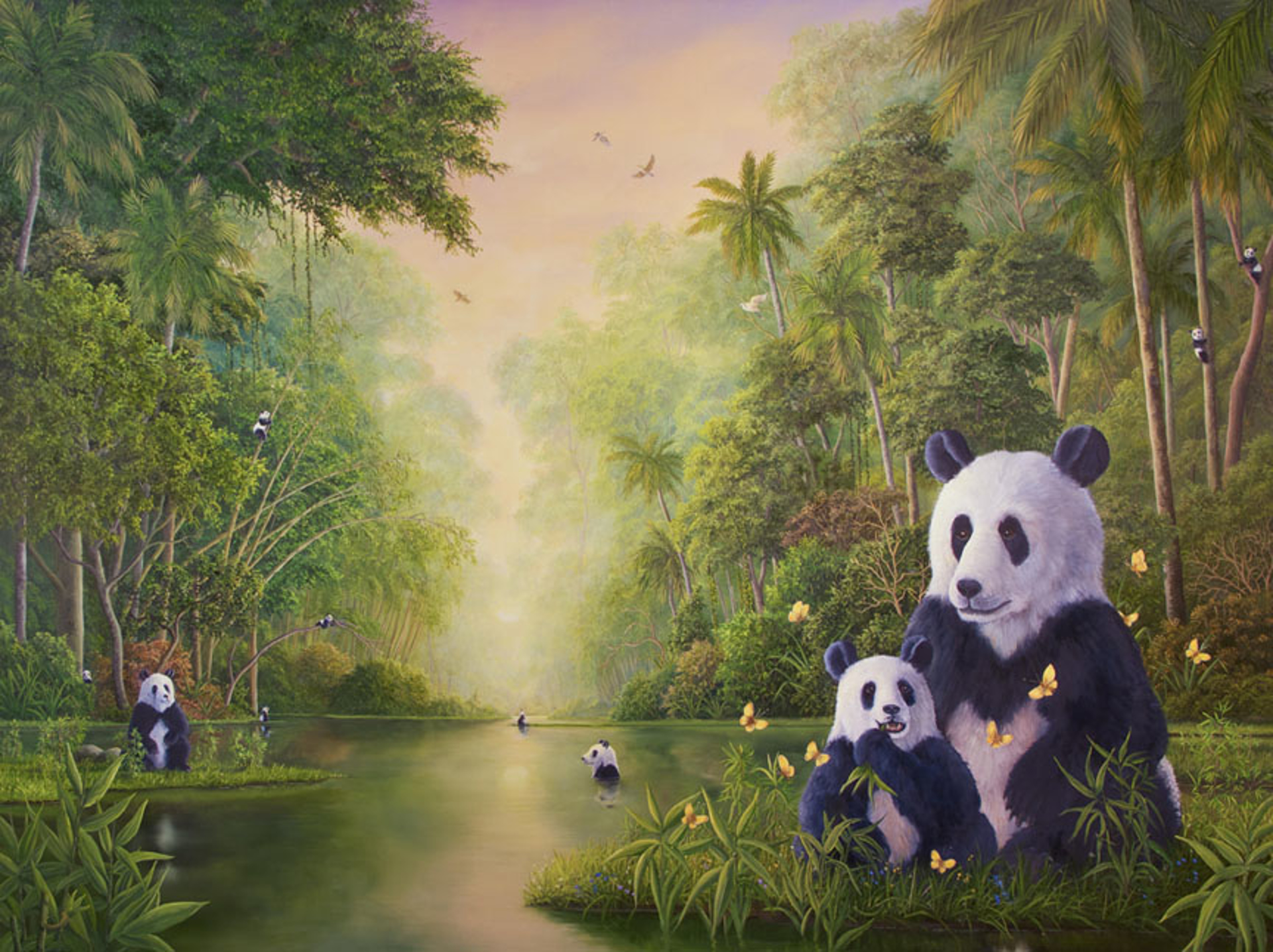 Bamboo River by Robert Bissell