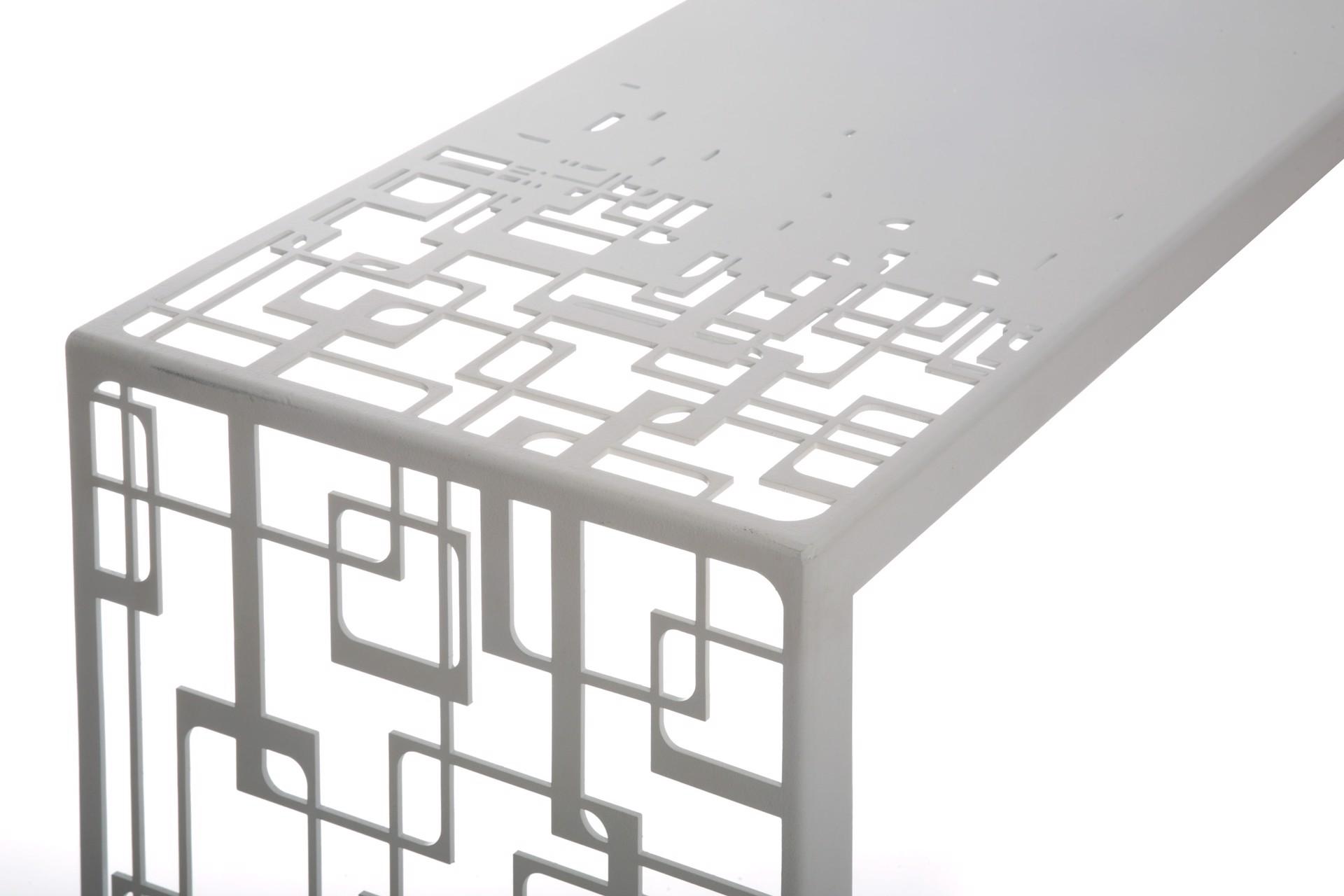 Laser cut console