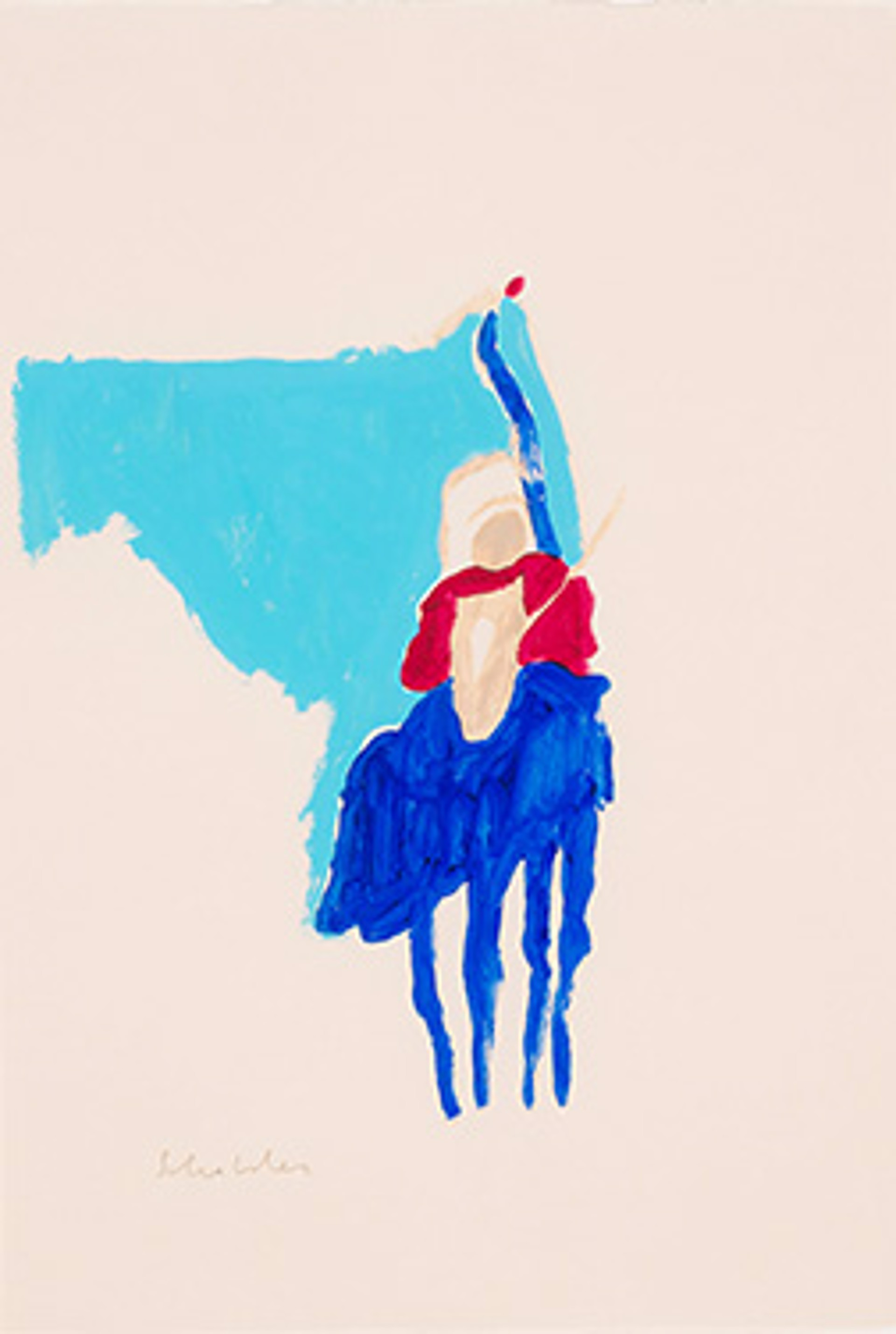 Indian with Staff by Fritz Scholder