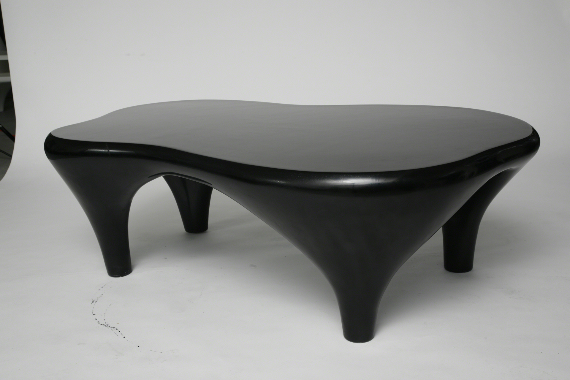 """Toro"" Coffee table in black by Jacques Jarrige"