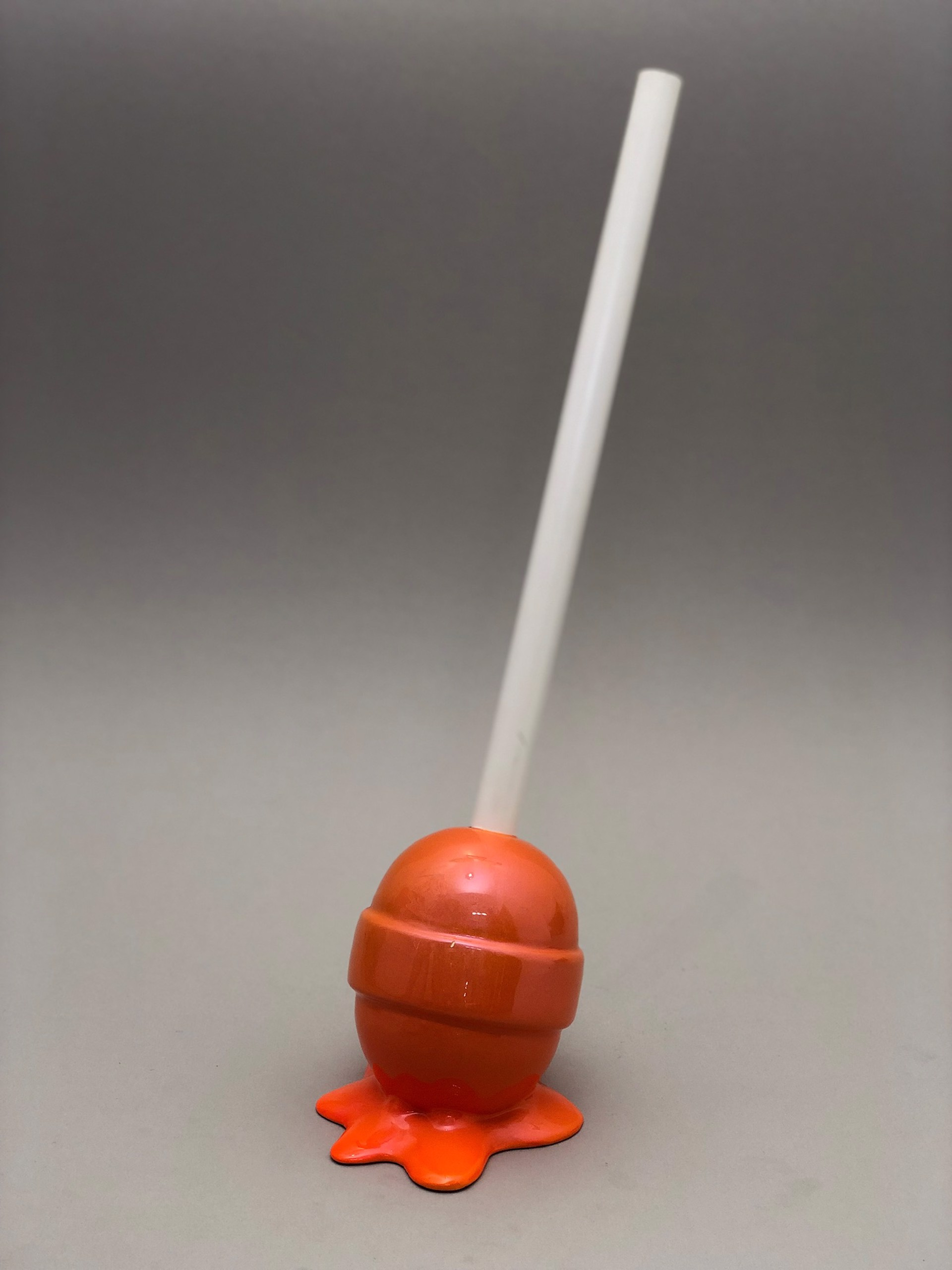 The Sweet Life, Small Terracotta Lollipop by Elena Bulatova