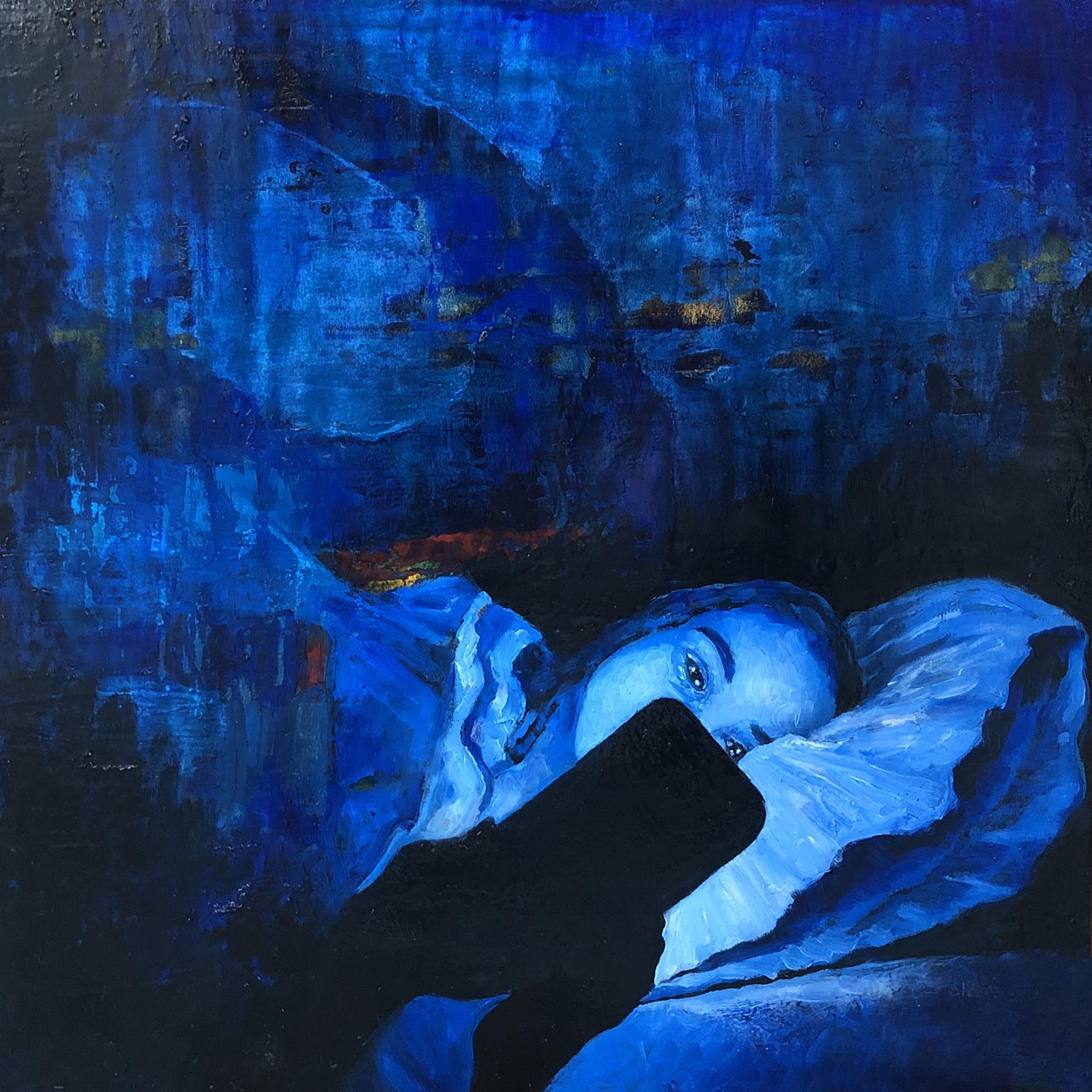 Late Night Blue Light by Kimberly Wheaton