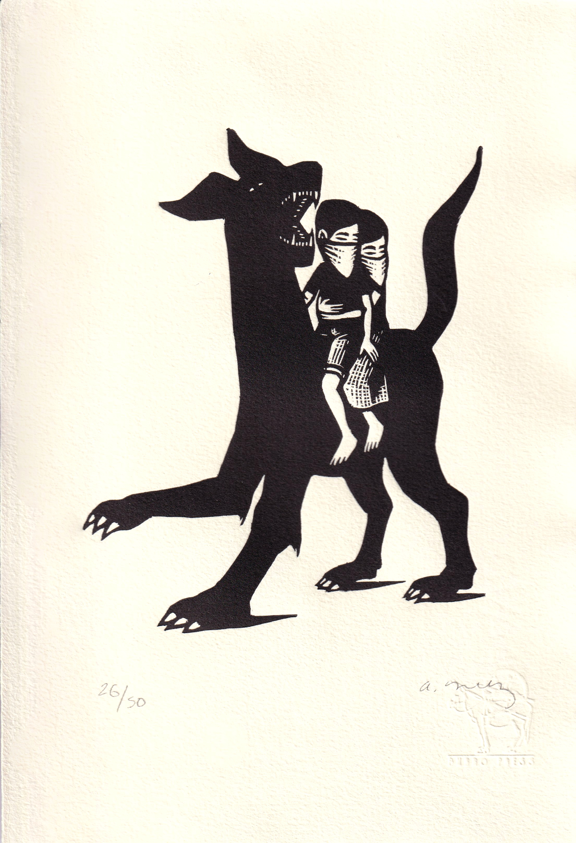 Niños Con Perro by Alberto Cruz