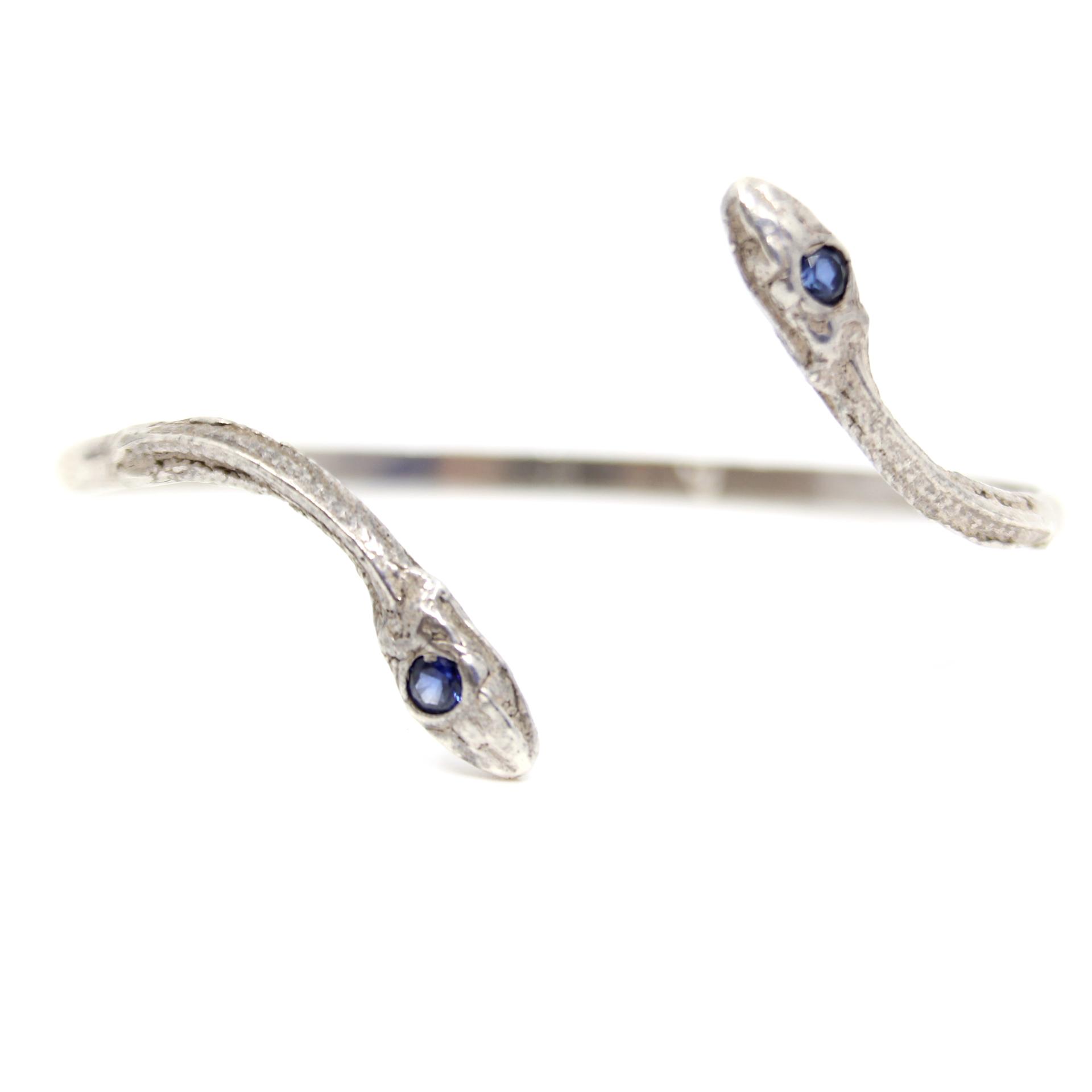 Sapphire Serpentine Cuff by Anna Johnson