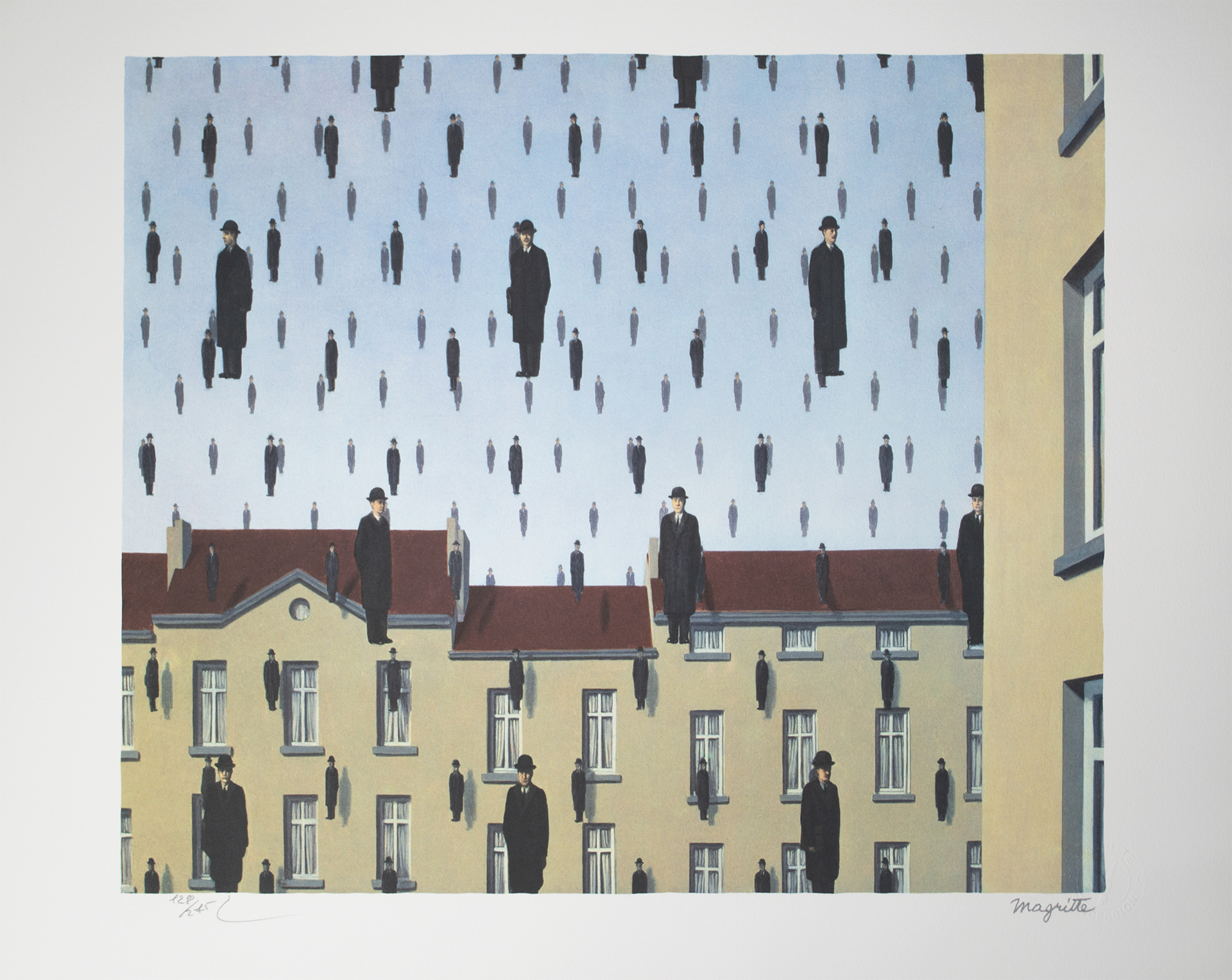 Golconde (Golconda) by Rene Magritte