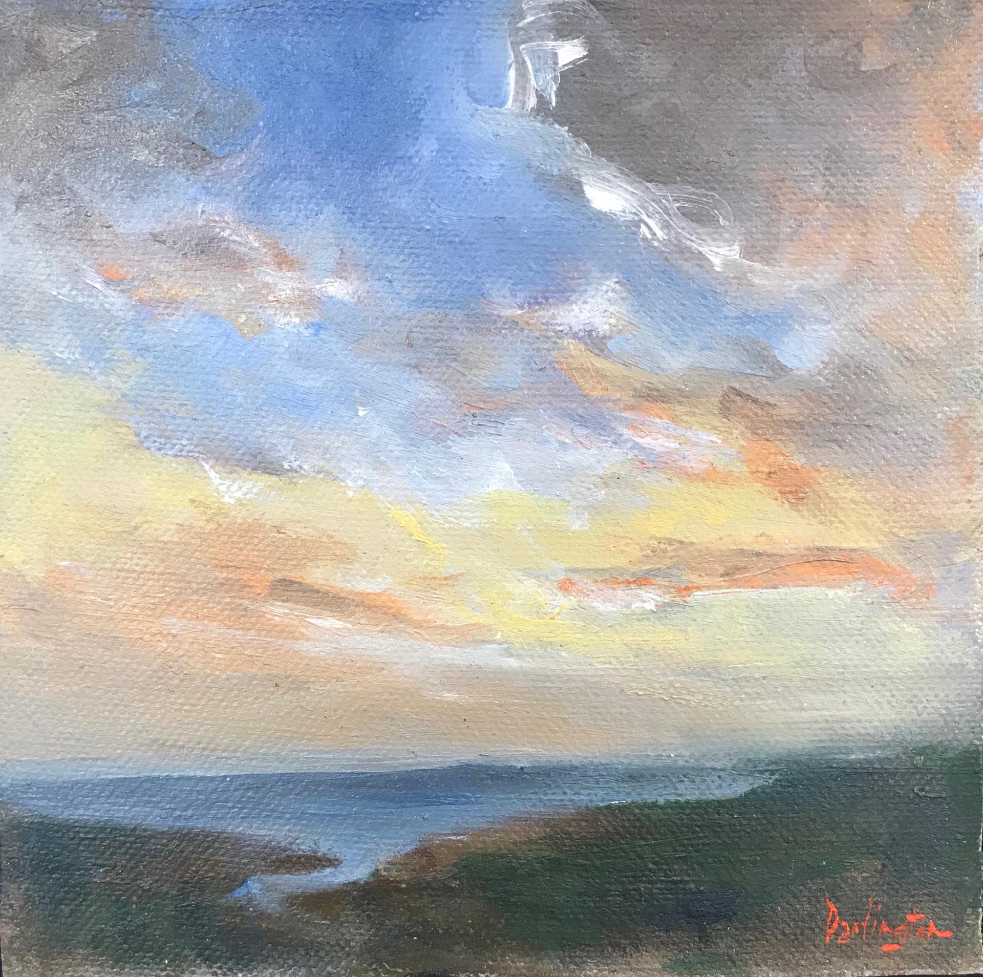 Sunset Over Harbor by Jim Darlington