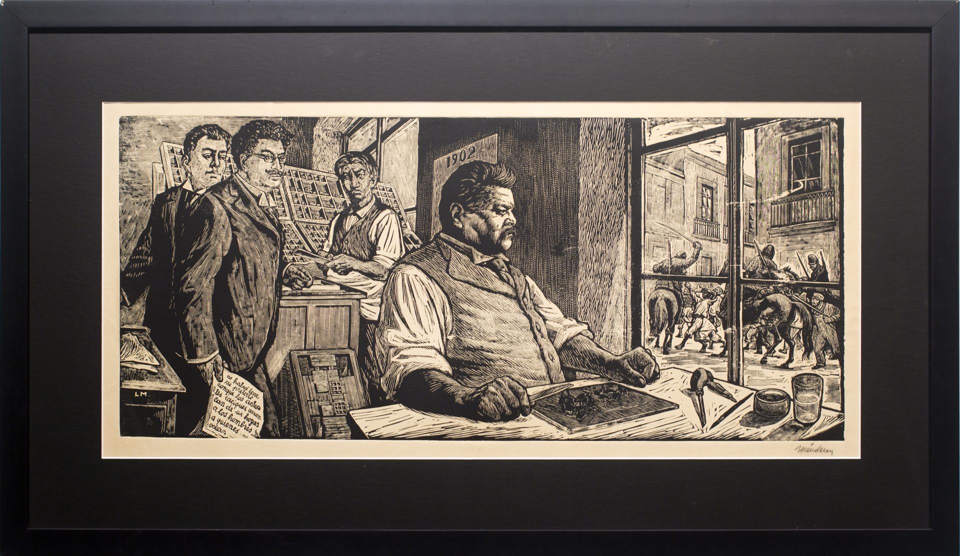 Posada in His Workshop (Homage to Posada) by Leopoldo Méndez (1902 - 1969)