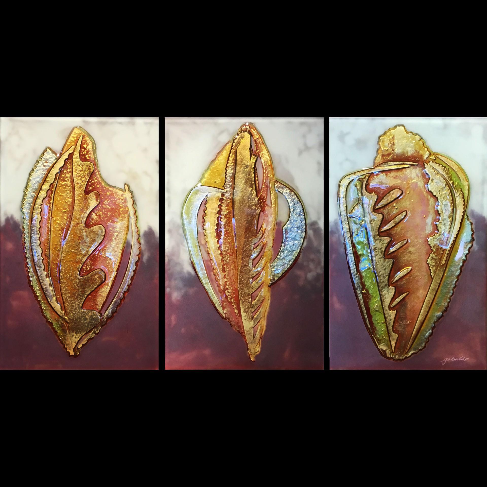 Drifting Time (Triptych) by Virginia Gabaldo