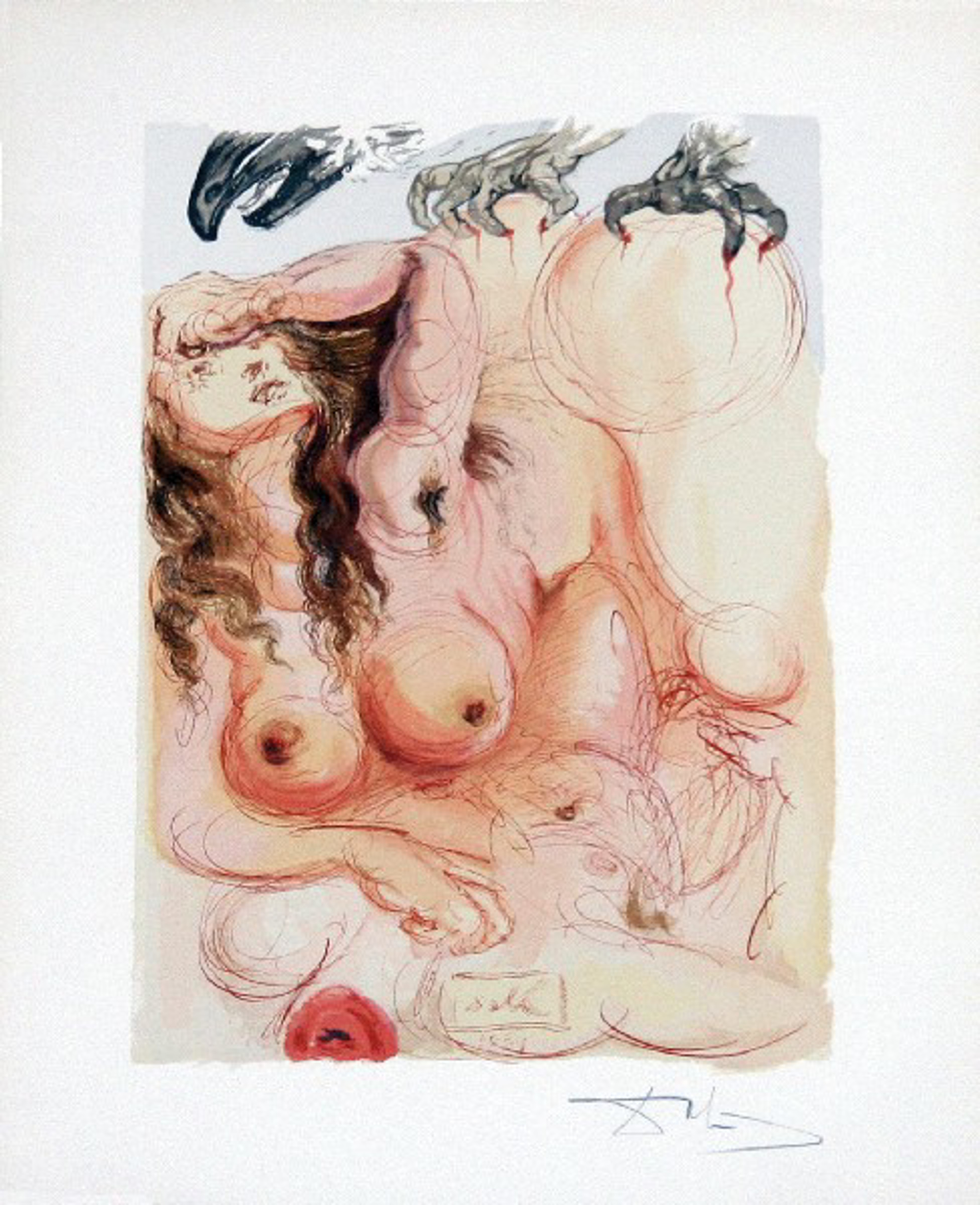 Purgatory Canto 9: The Dream from The Divine Comedy by Salvador Dali (1904 - 1989)