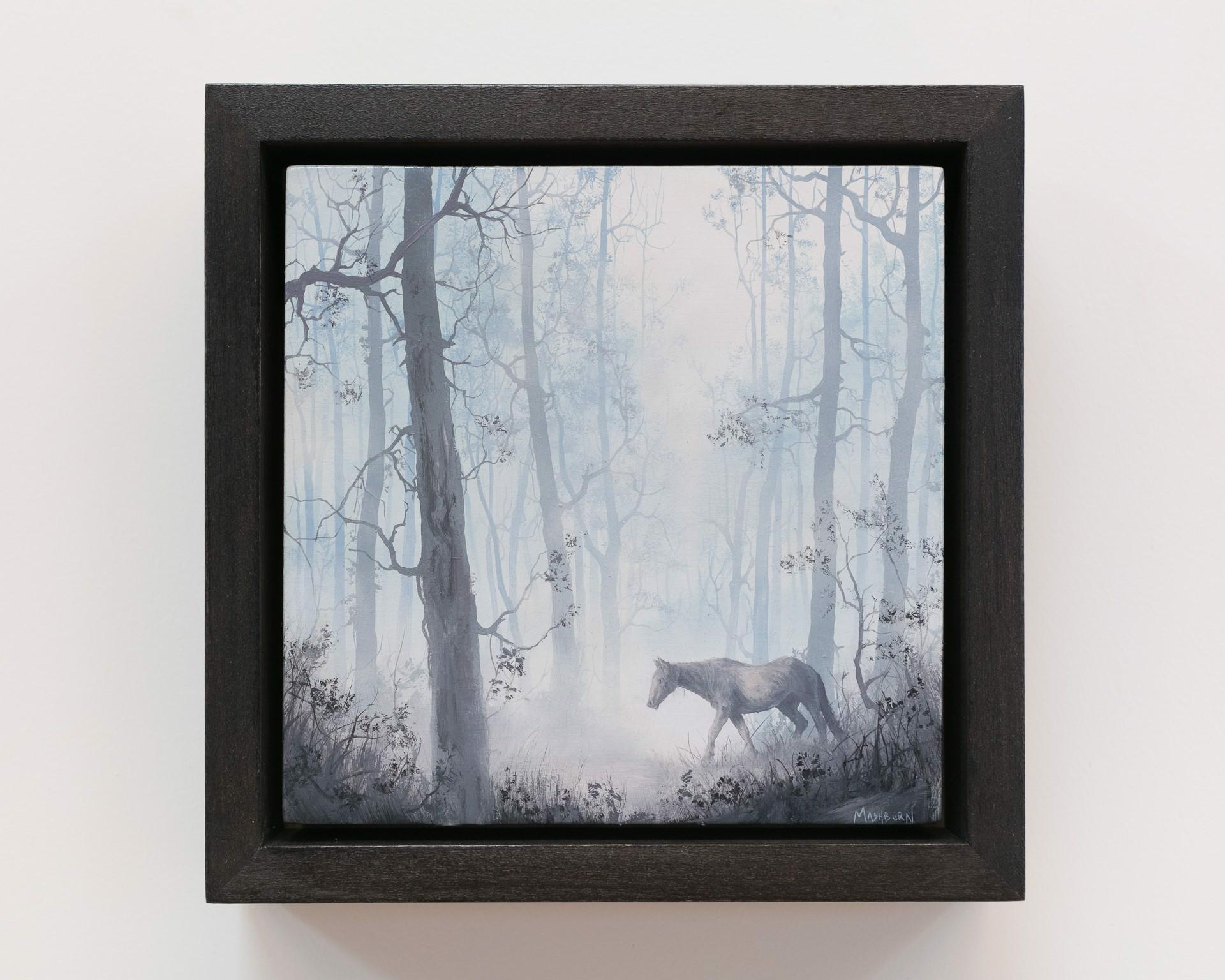 Horse Walking in a Pale Forest by Brian Mashburn