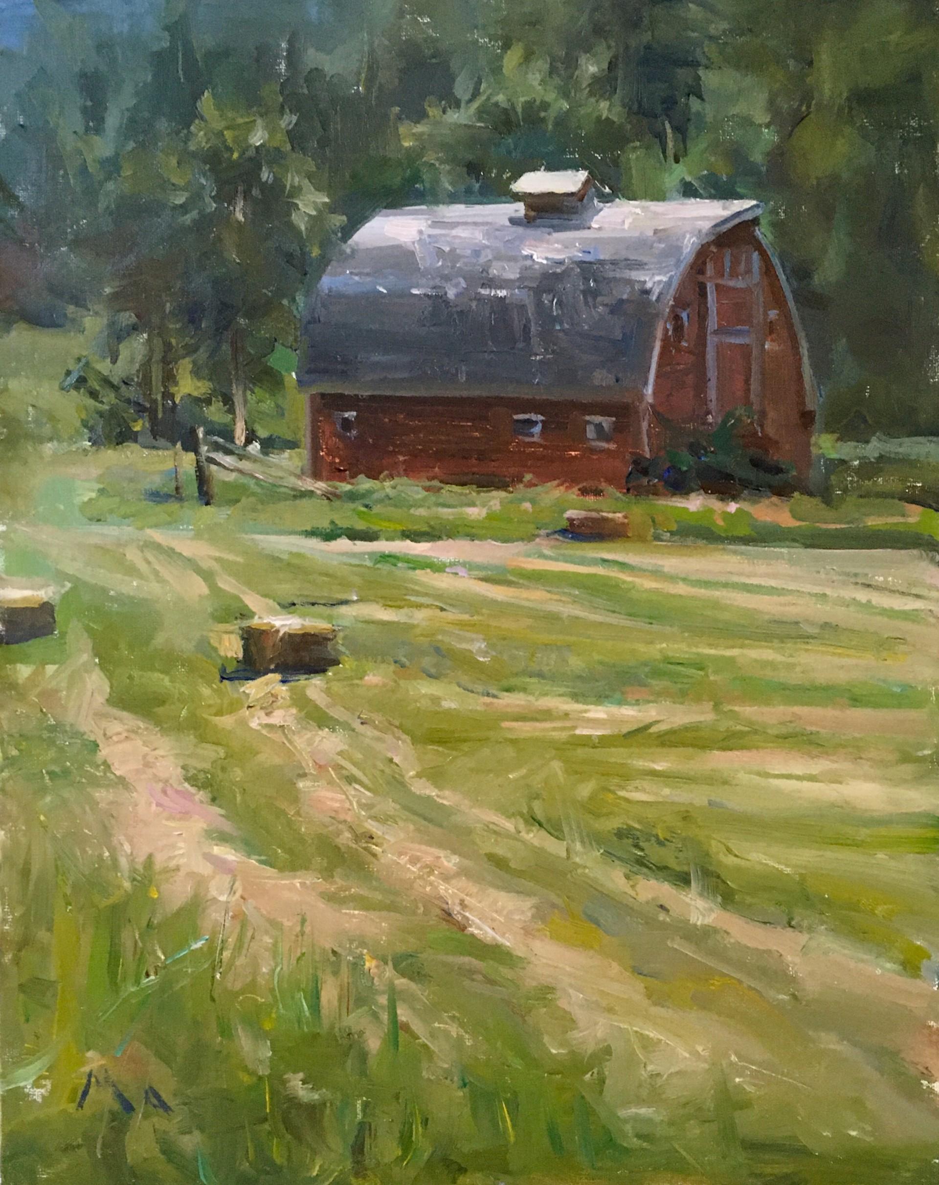 Montana Barn by Kyle Ma