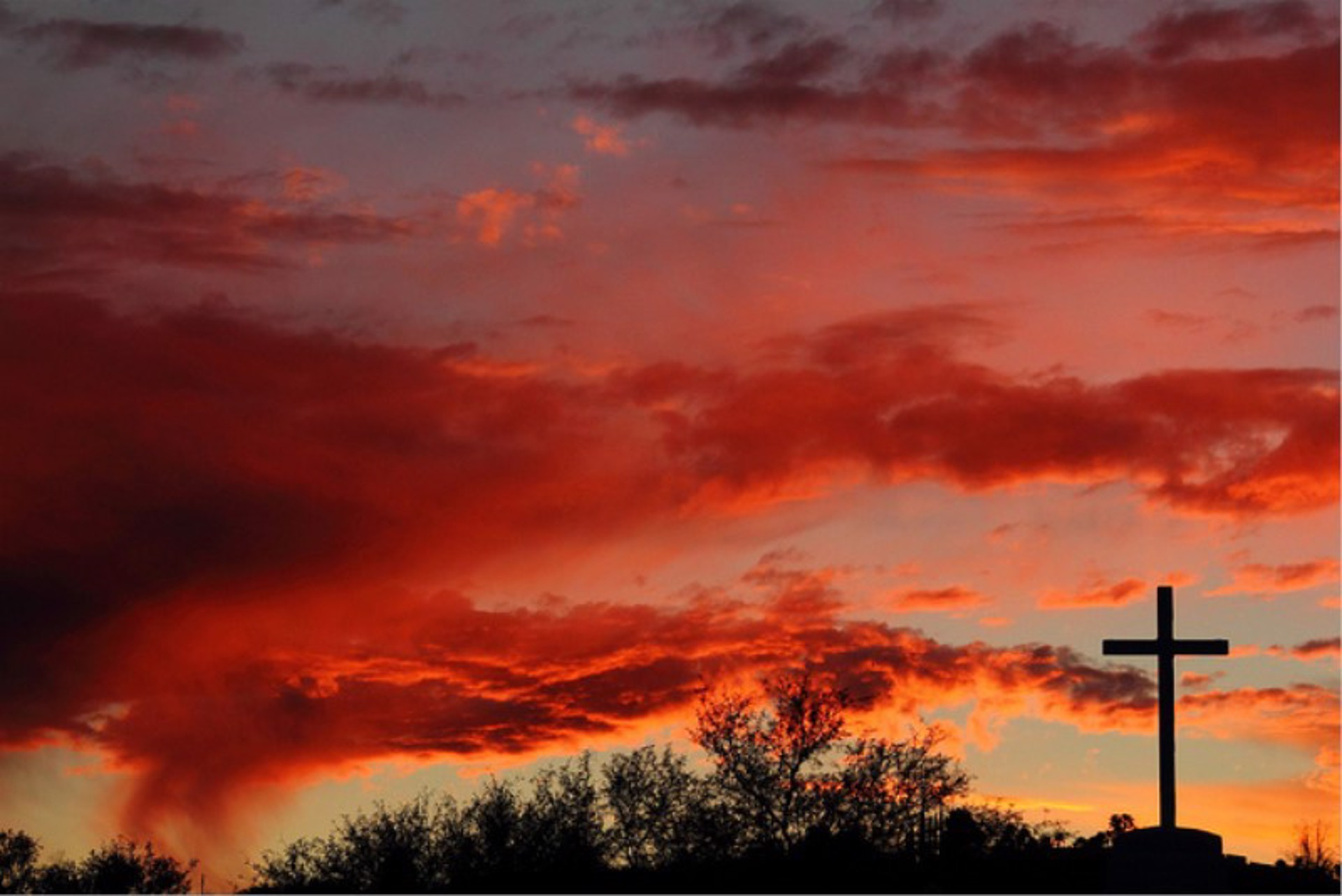 Cross At Sunset by John Hays