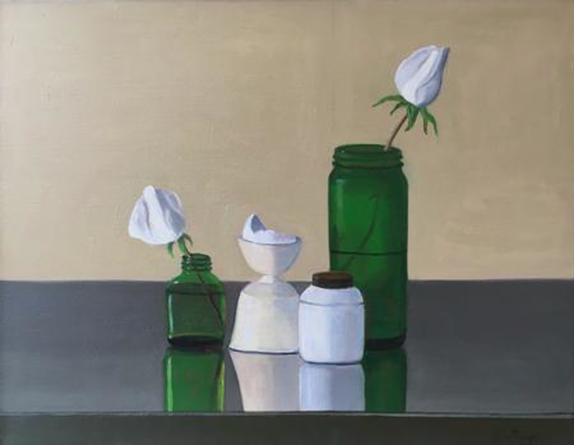 Still Life with Rosebuds by Carol Thompson