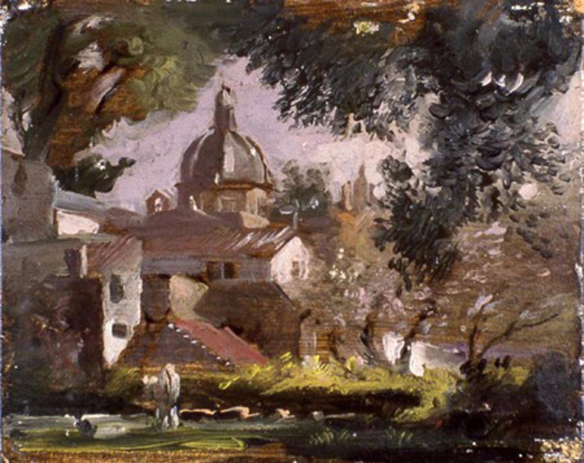Lake Near Rome by Frank Mason (1921 - 2009)