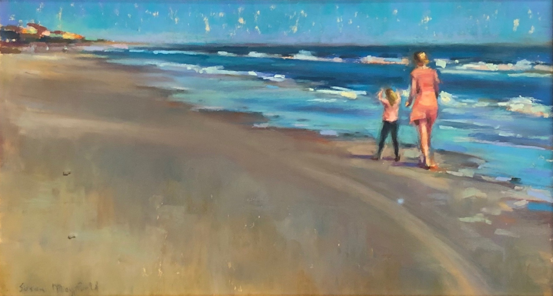 Beach Walk by Susan Mayfield
