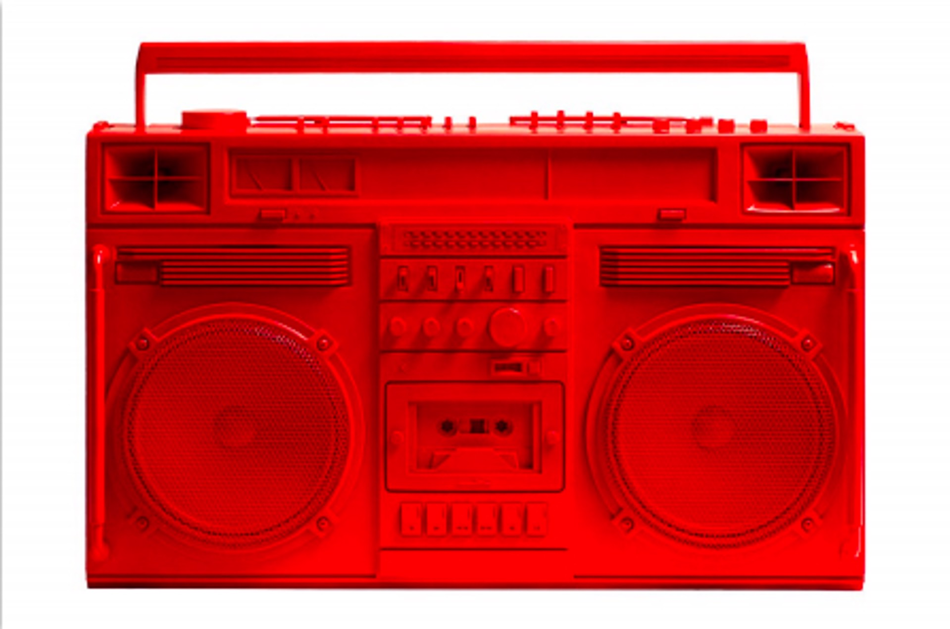 Boombox Sculpture series Size D, Red by Lyle Owerko