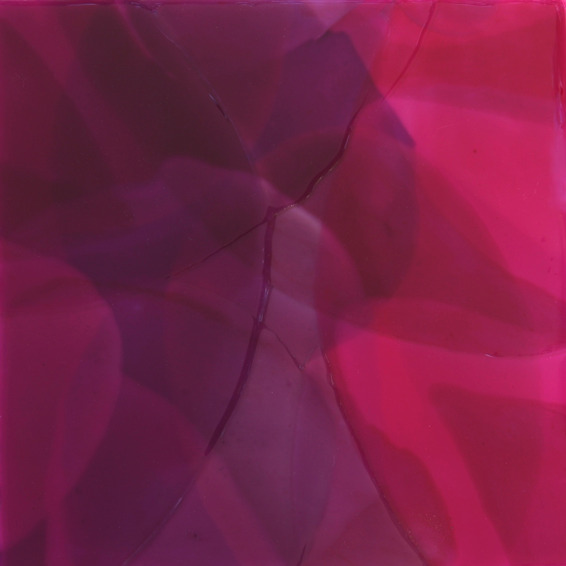 Red-Violet Square by Farida Hughes