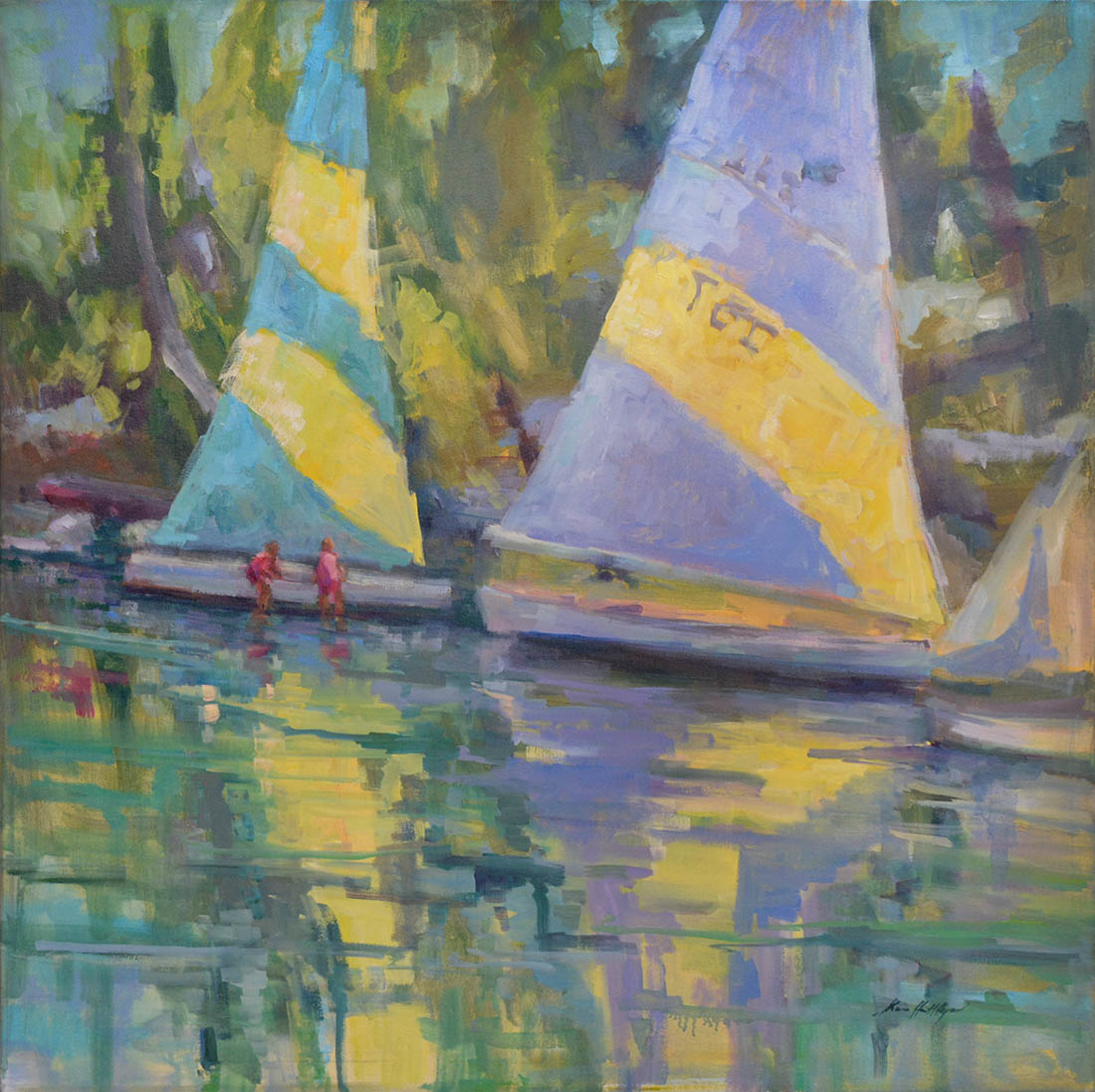 Hope Town Sail by Karen Hewitt Hagan