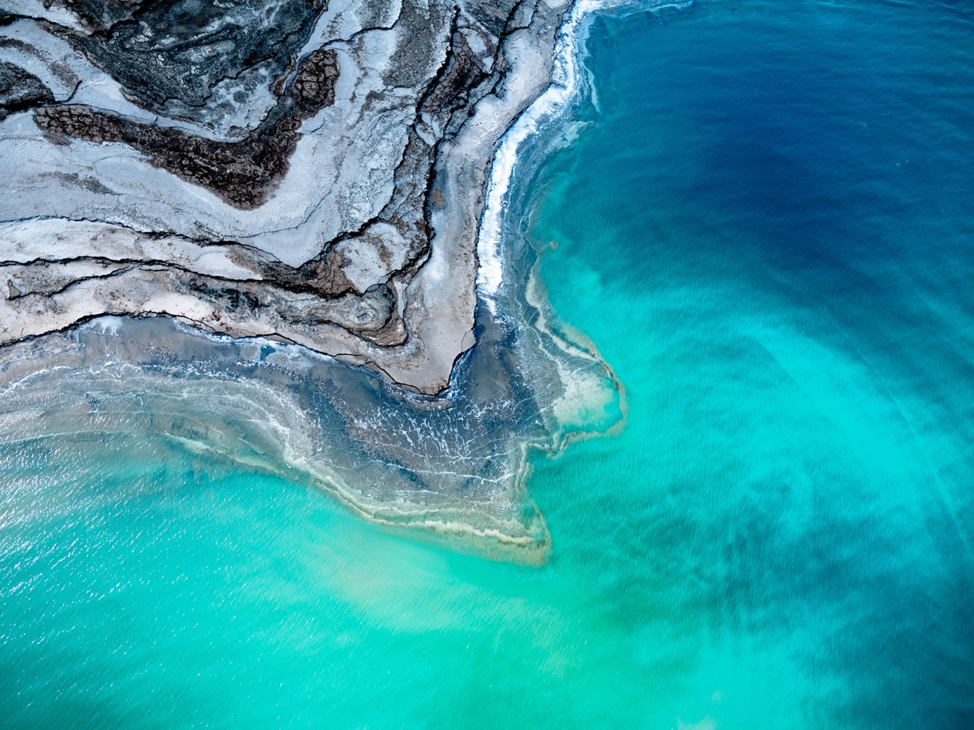 Layers in Life, Dead Sea, Israel / Photograph from Helicopter  Ed. 2/10 by Dinesh Boaz