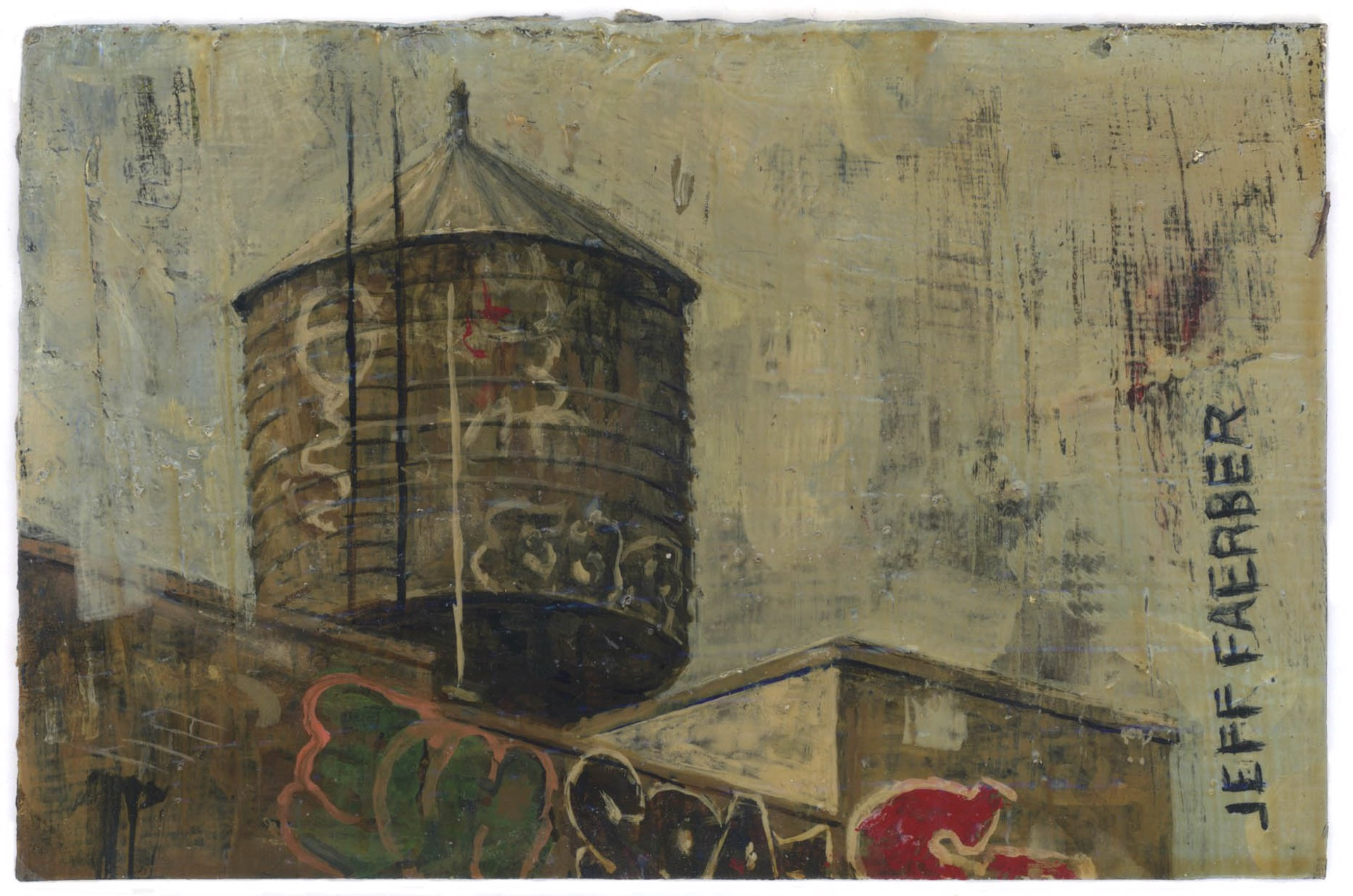 Graffiti Tower by Jeff Faerber
