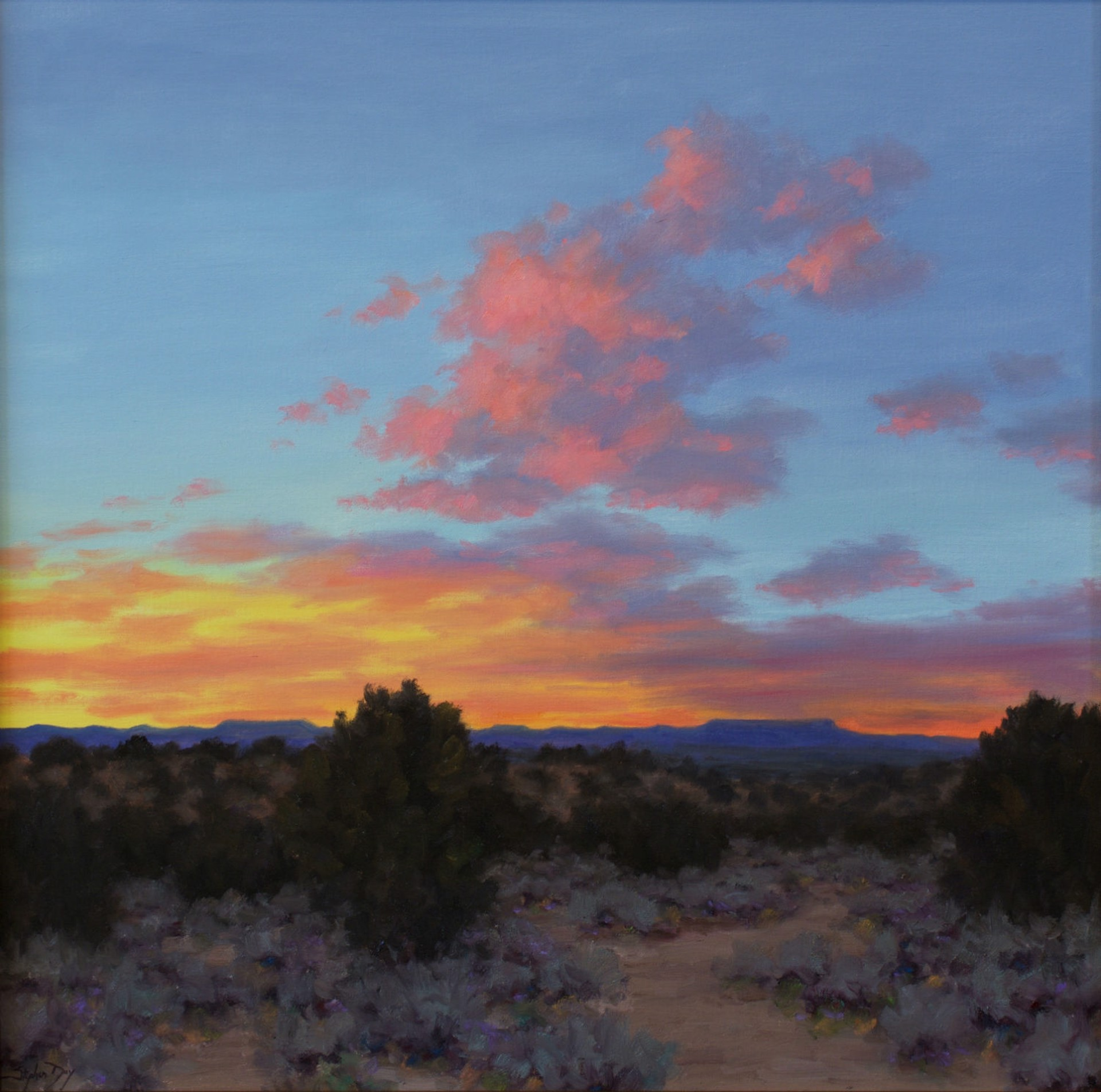 Lingering Clouds Evening by Stephen Day