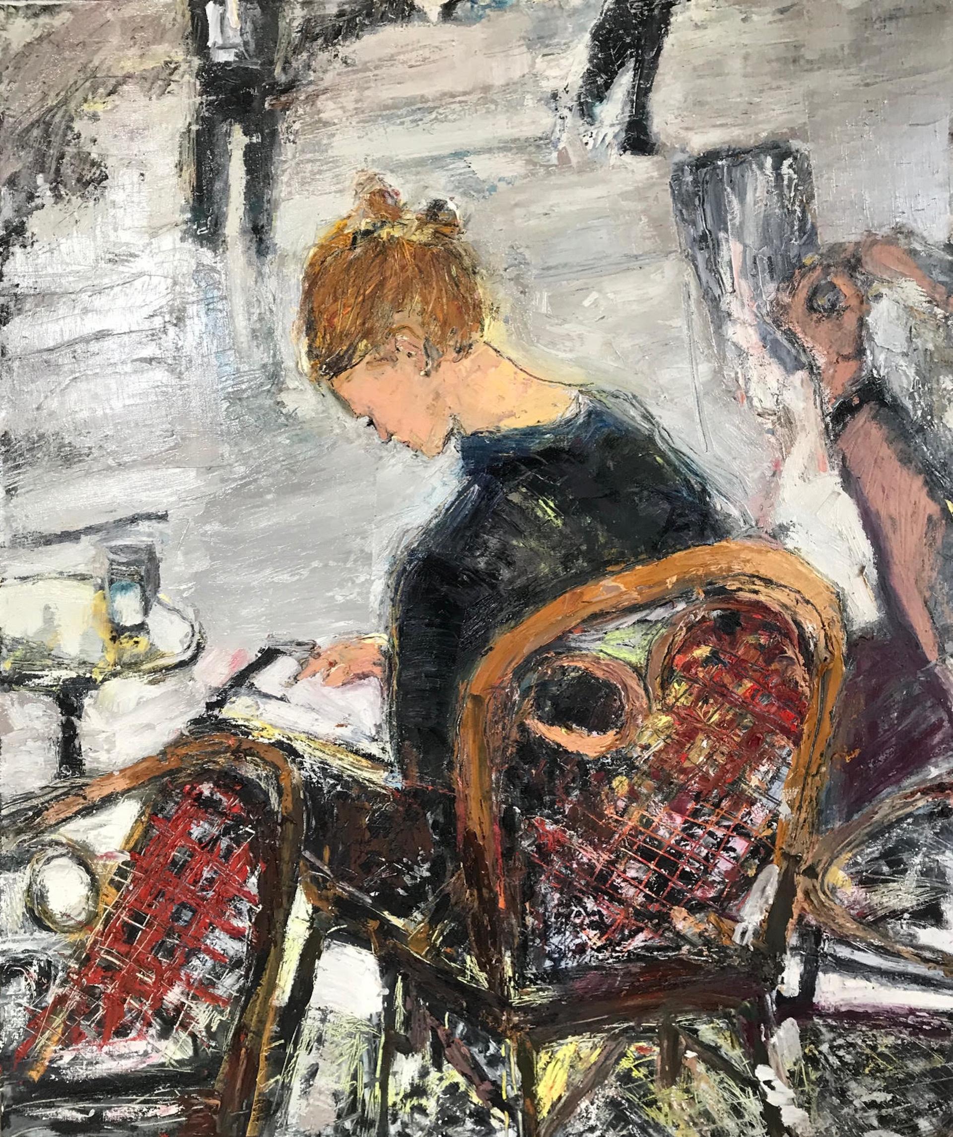 Woman Reading by Ana Guzman