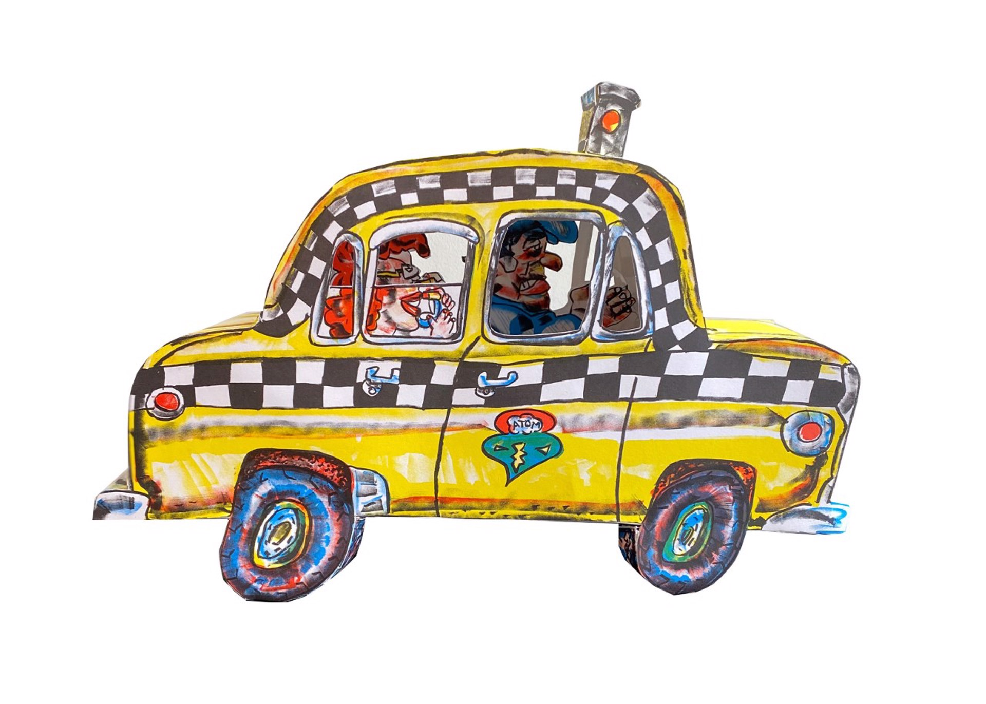 Ruckus Taxi by Red Grooms