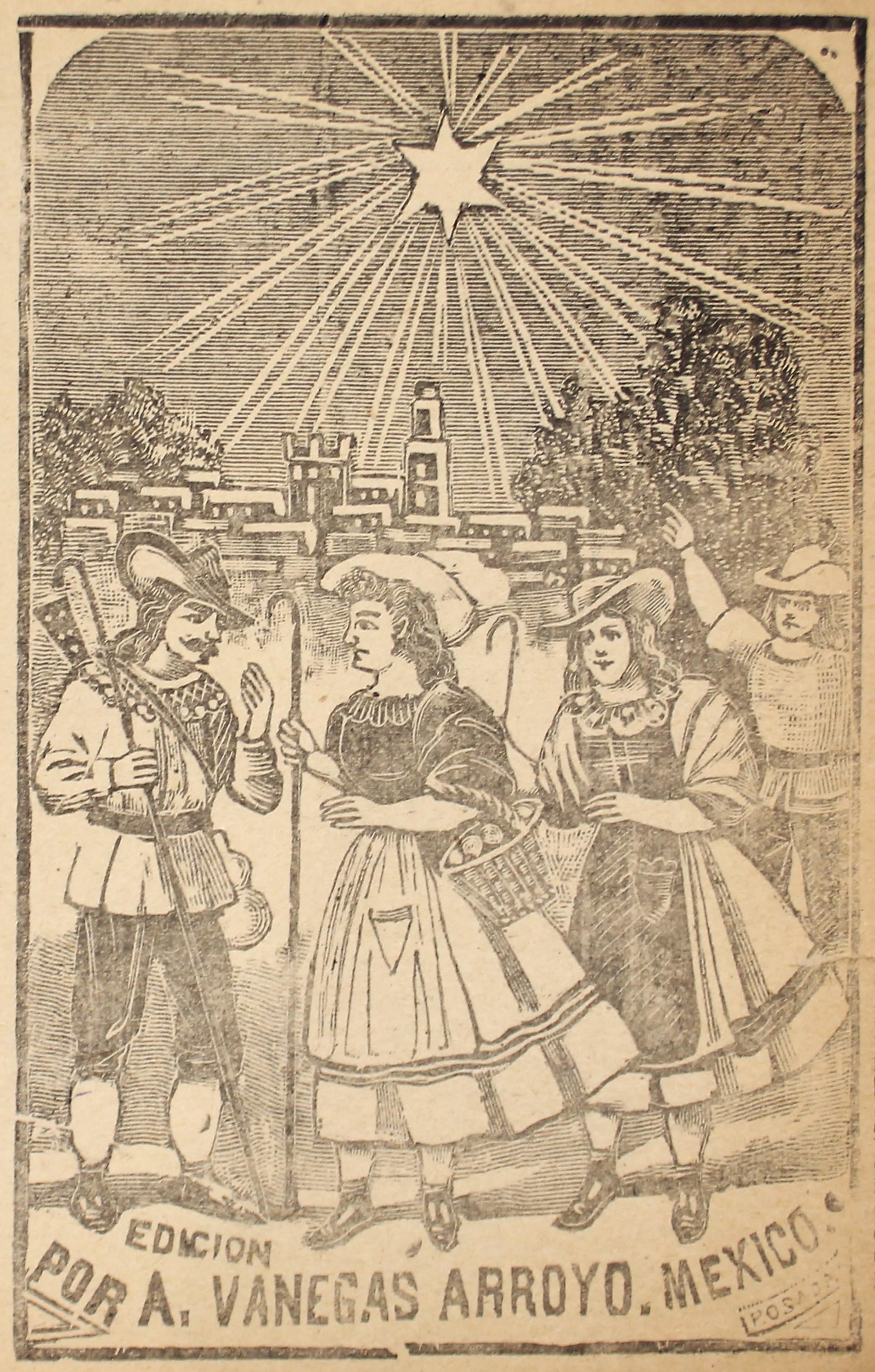 La Aurora del Nuevo Dia en los campos de Belen by José Guadalupe Posada (1852 - 1913)