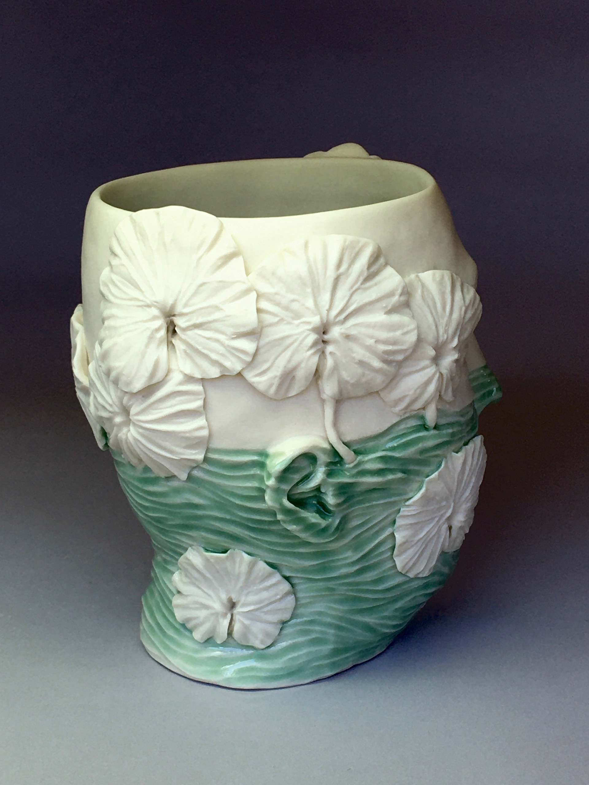 """""""High Water Level Vase with Plants"""" by Adrian Arleo"""