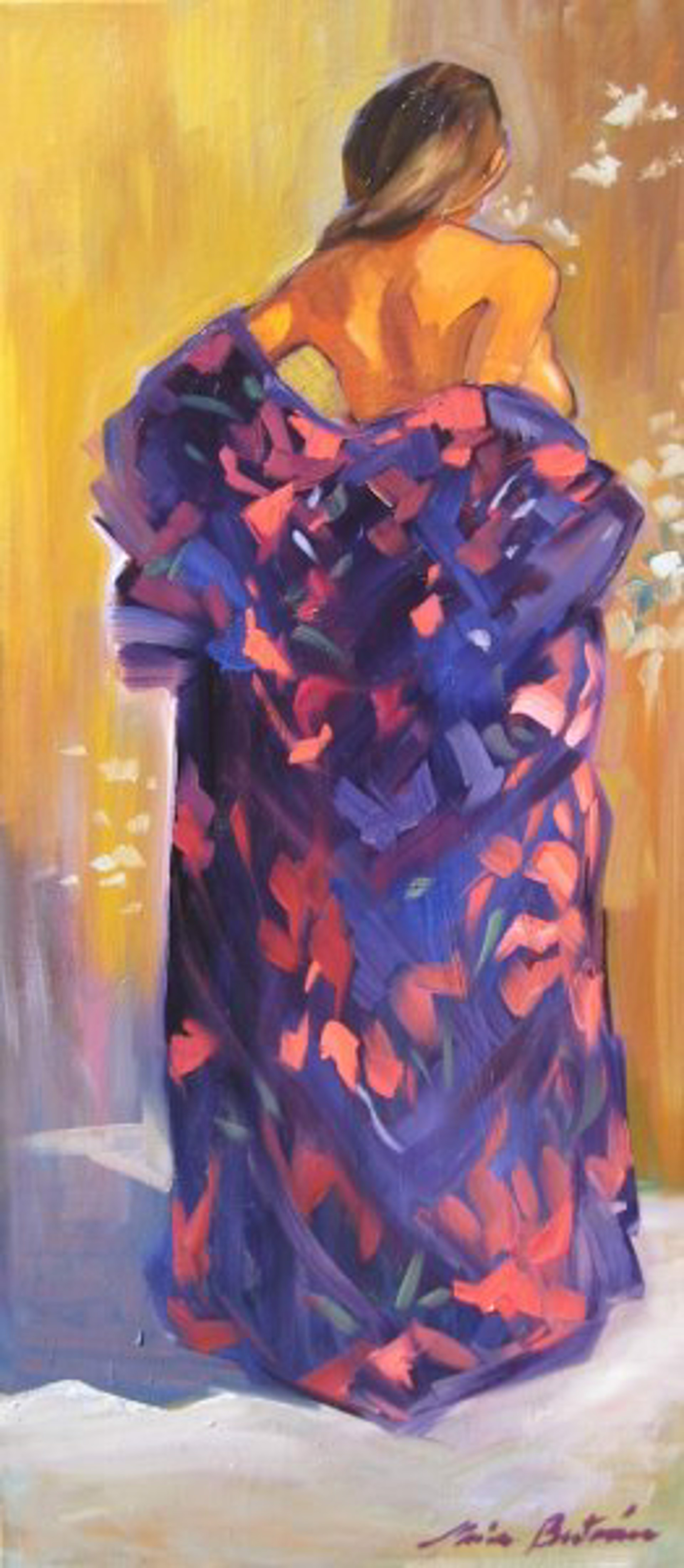 Maria Bertran: Purple Kimono by Maria Bertrán