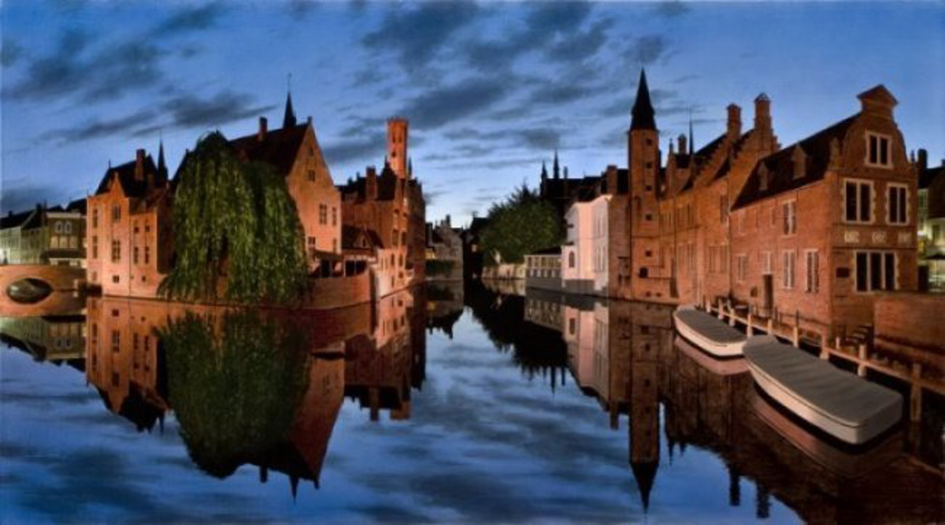 Evening in Bruges by Alexander Volkov