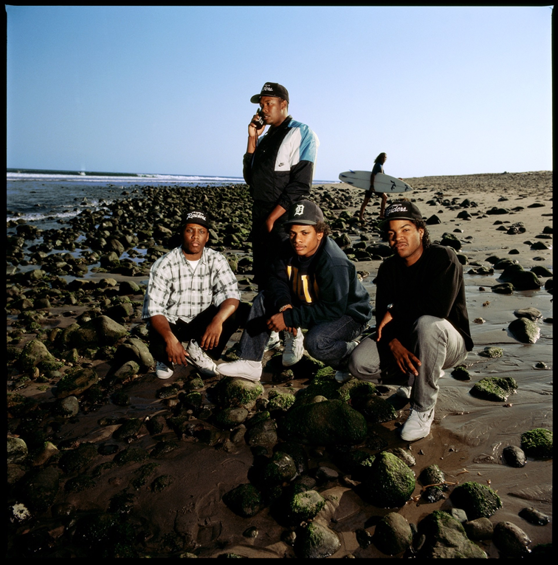 89171 N.W.A. On the Beach 1989 Color by Timothy White