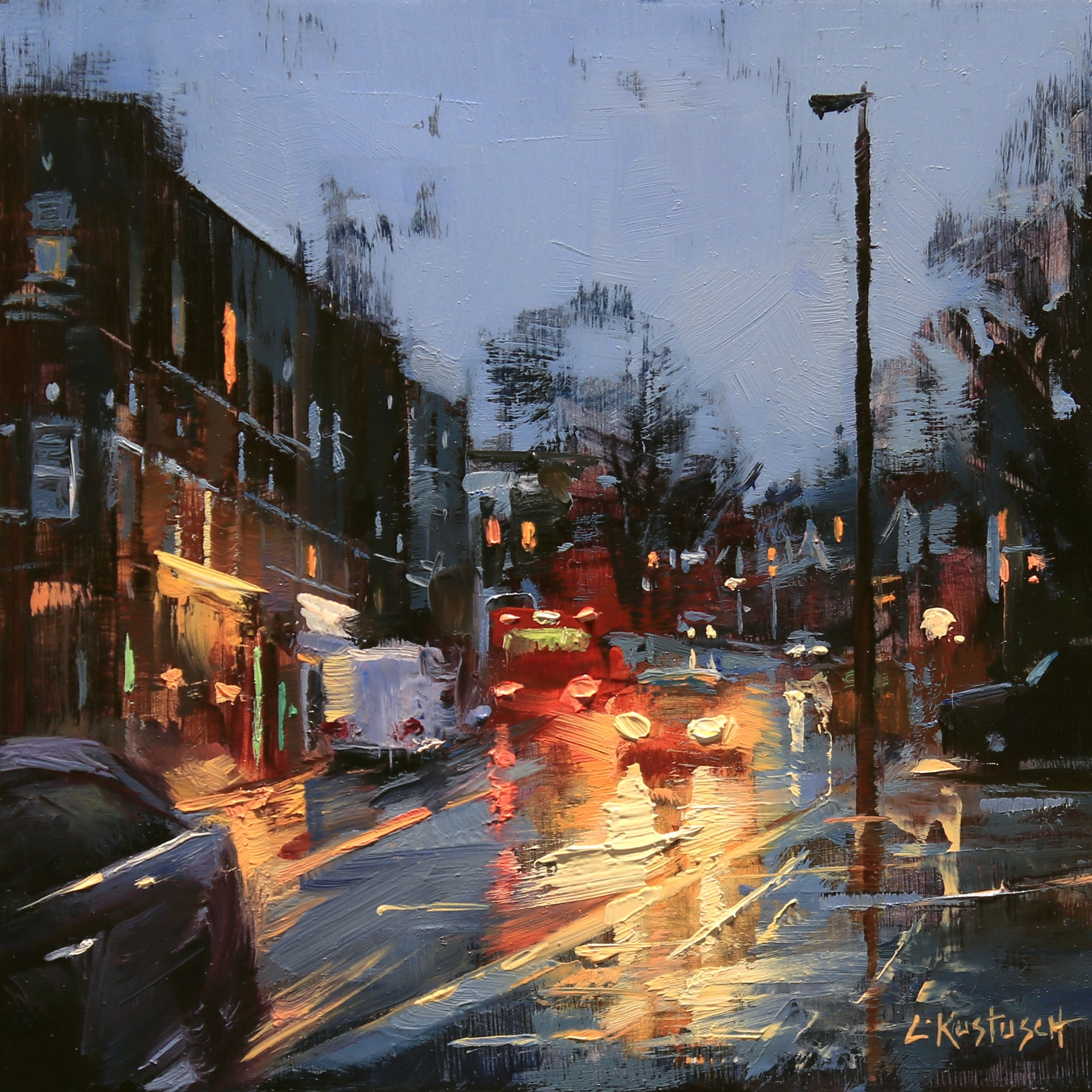 December Rain in London by Lindsey Kustusch