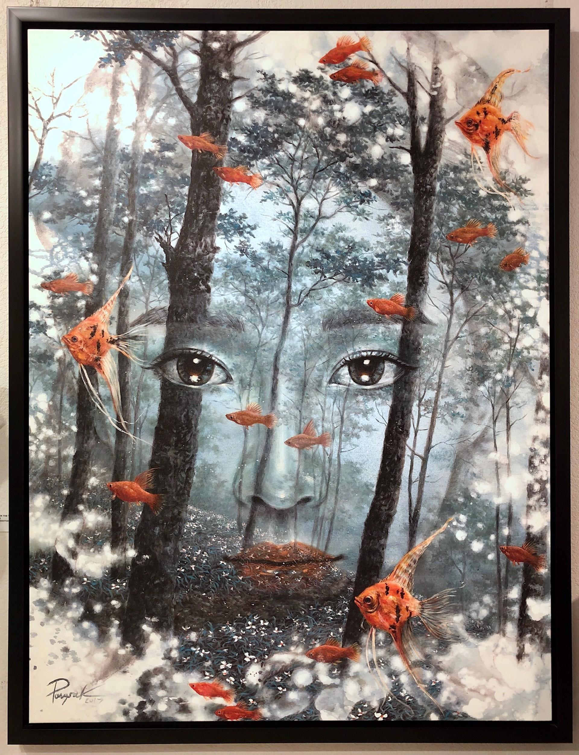Face in the Forest by Pongsak Kamjornrasamekit