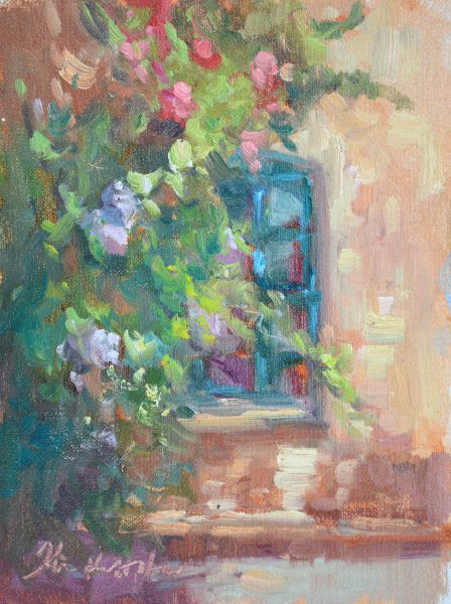 The Green Window at La Consuma by Karen Hewitt Hagan