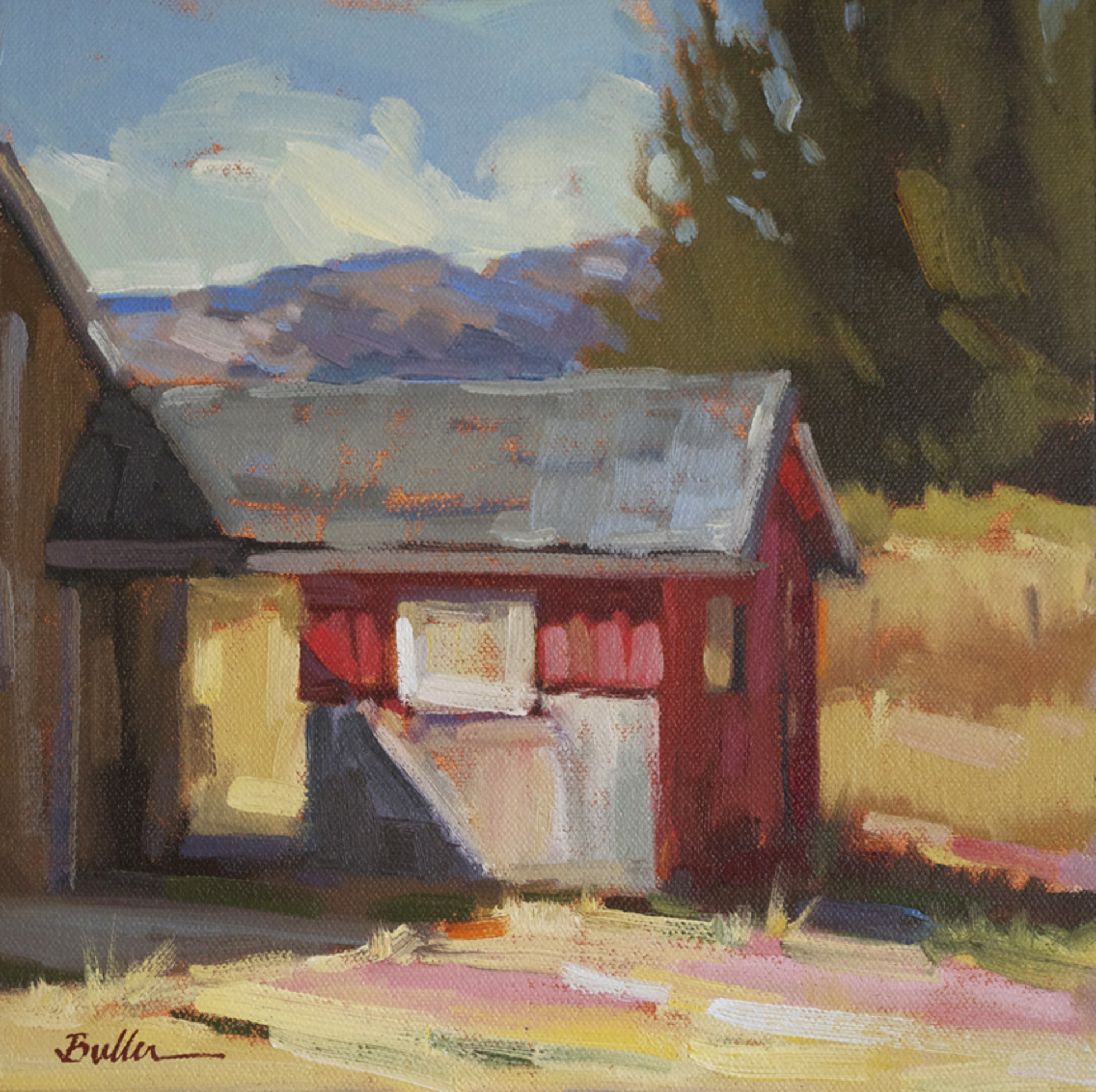 Red Barn to the West by Samantha Buller