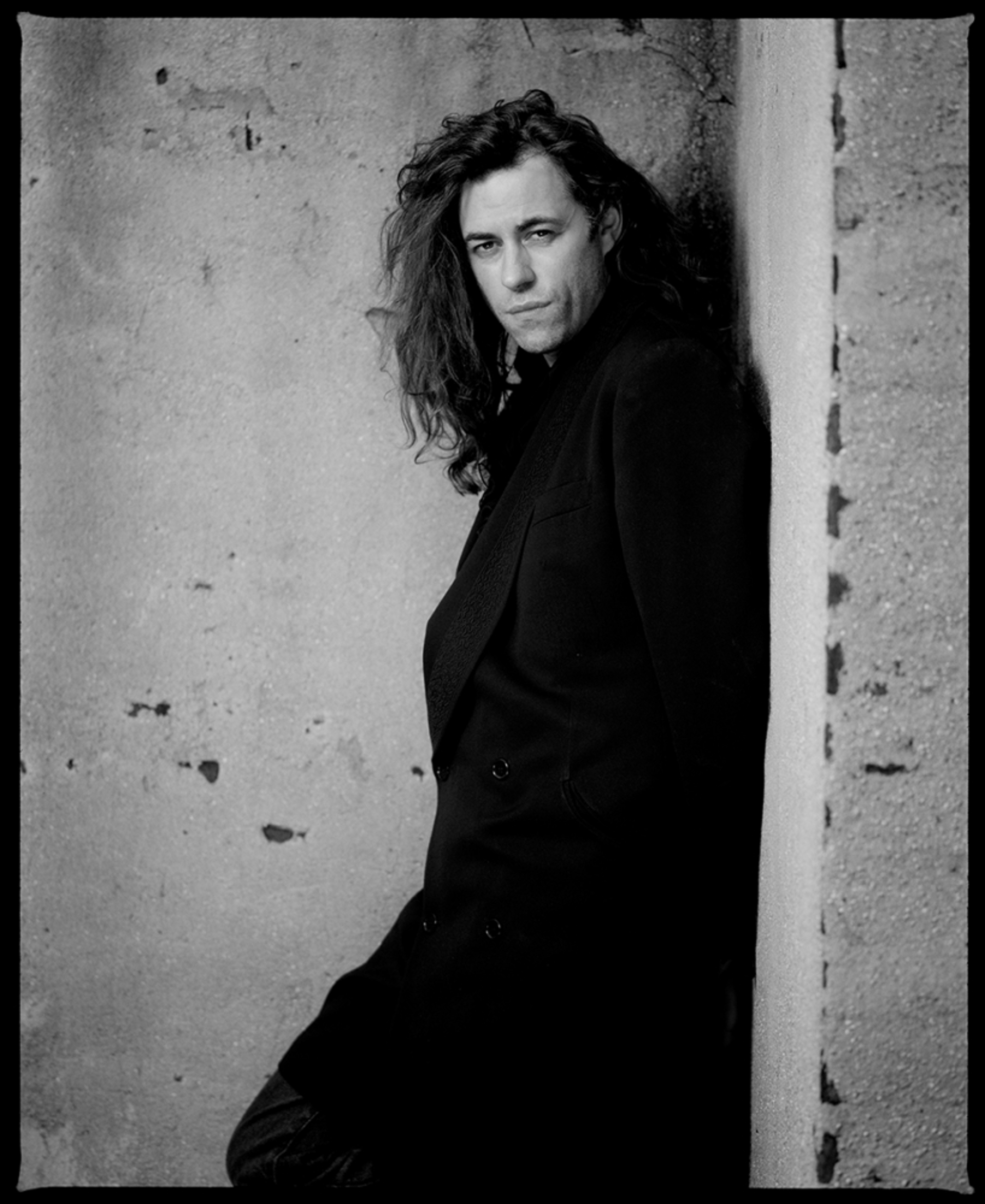 90091 Bob Geldof On the Wall BW by Timothy White