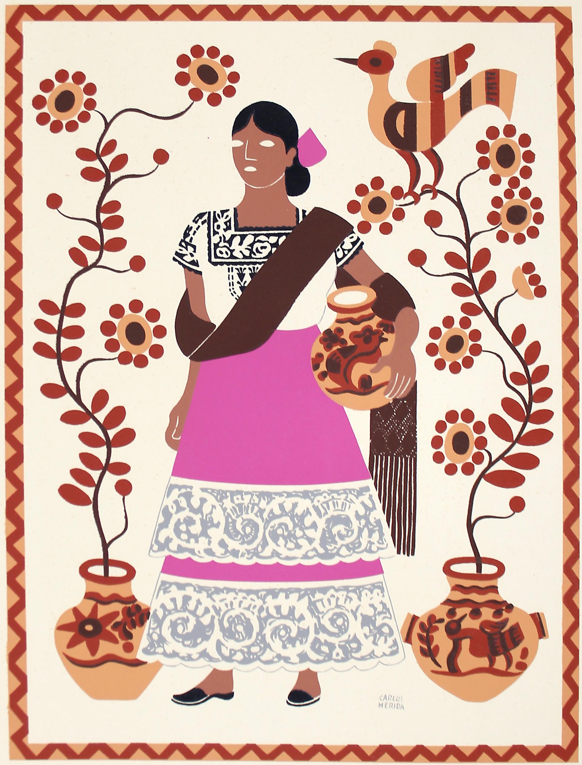 Mestiza, Estado de Campeche by Carlos Mérida (1891 - 1985)