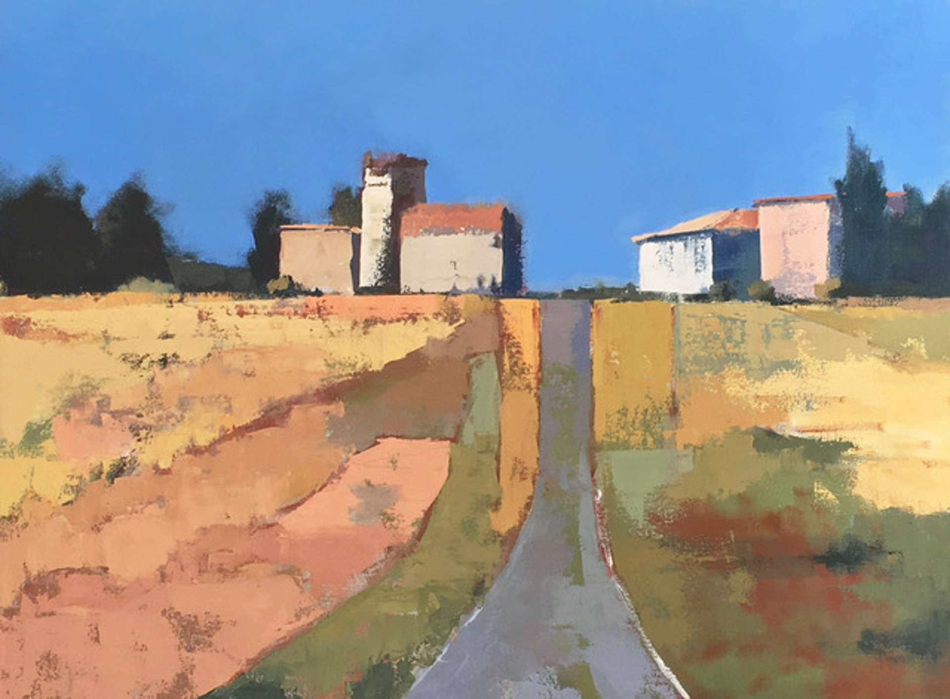 Farmhouses in the Fields by Lesley Powell