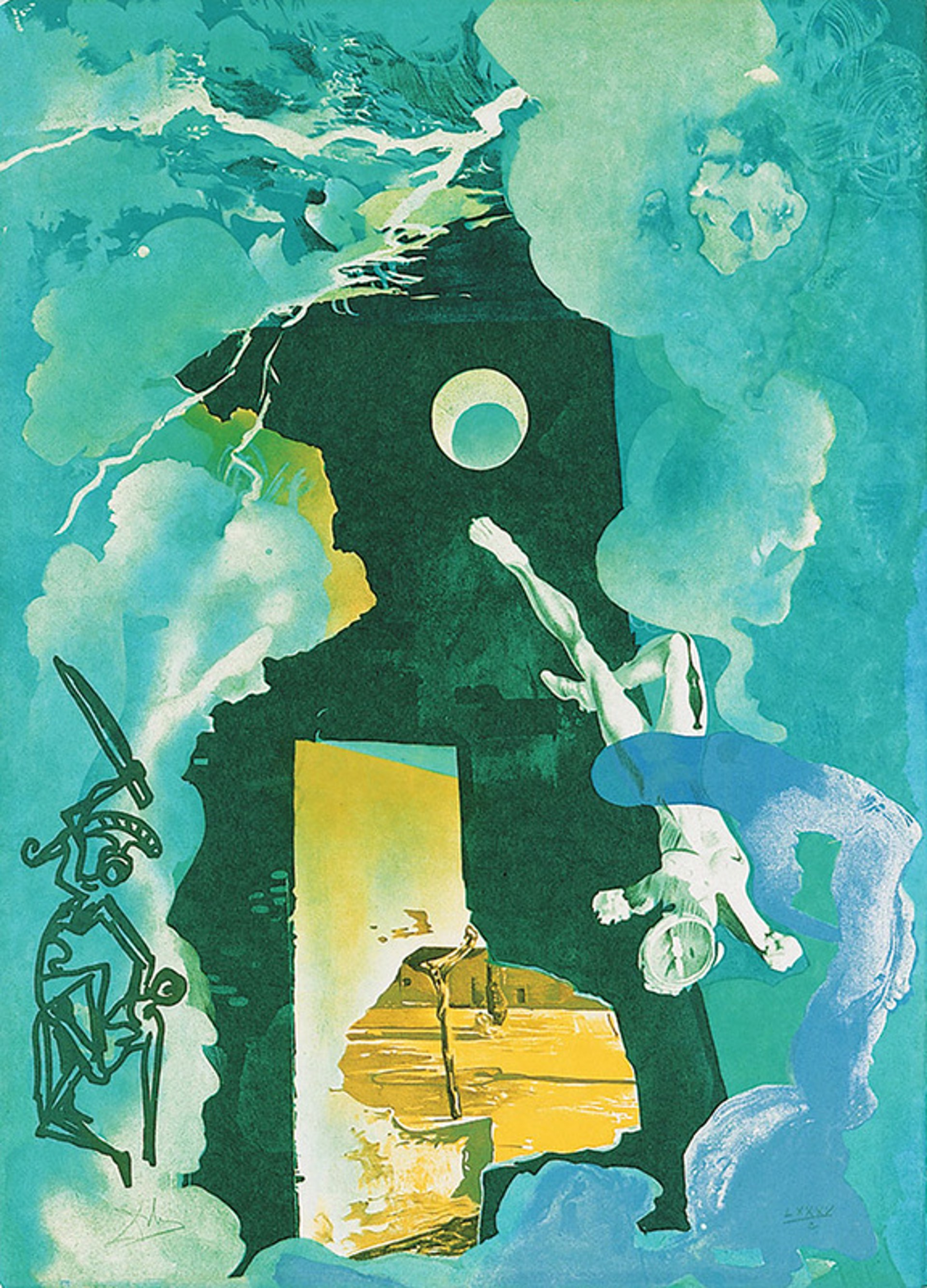 The Eternity of Love from the Trilogy of Love Portfolio by Salvador Dali (1904 - 1989)