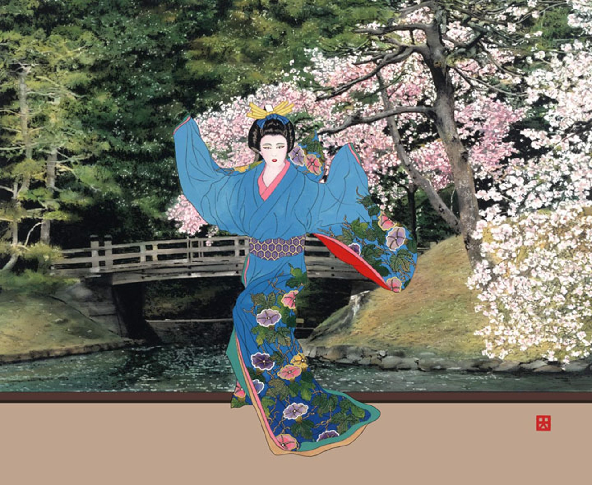 Lady Mieko - Hama-Rikyu Naka No Hashi by Hisashi Otsuka