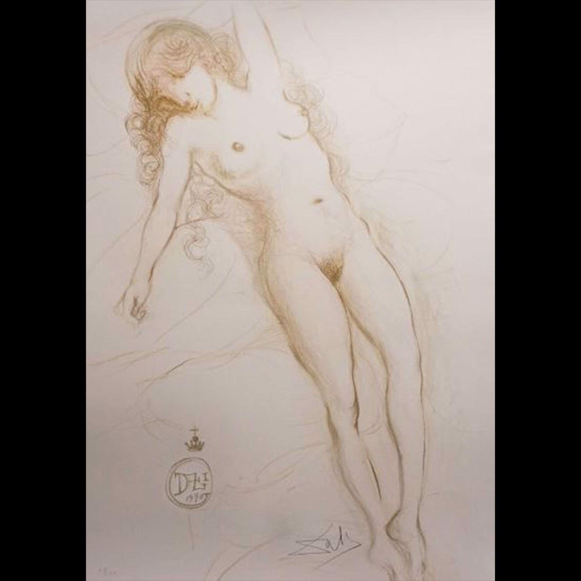 Nu Du Bras (Nude with Raised Arm) by Salvador Dali