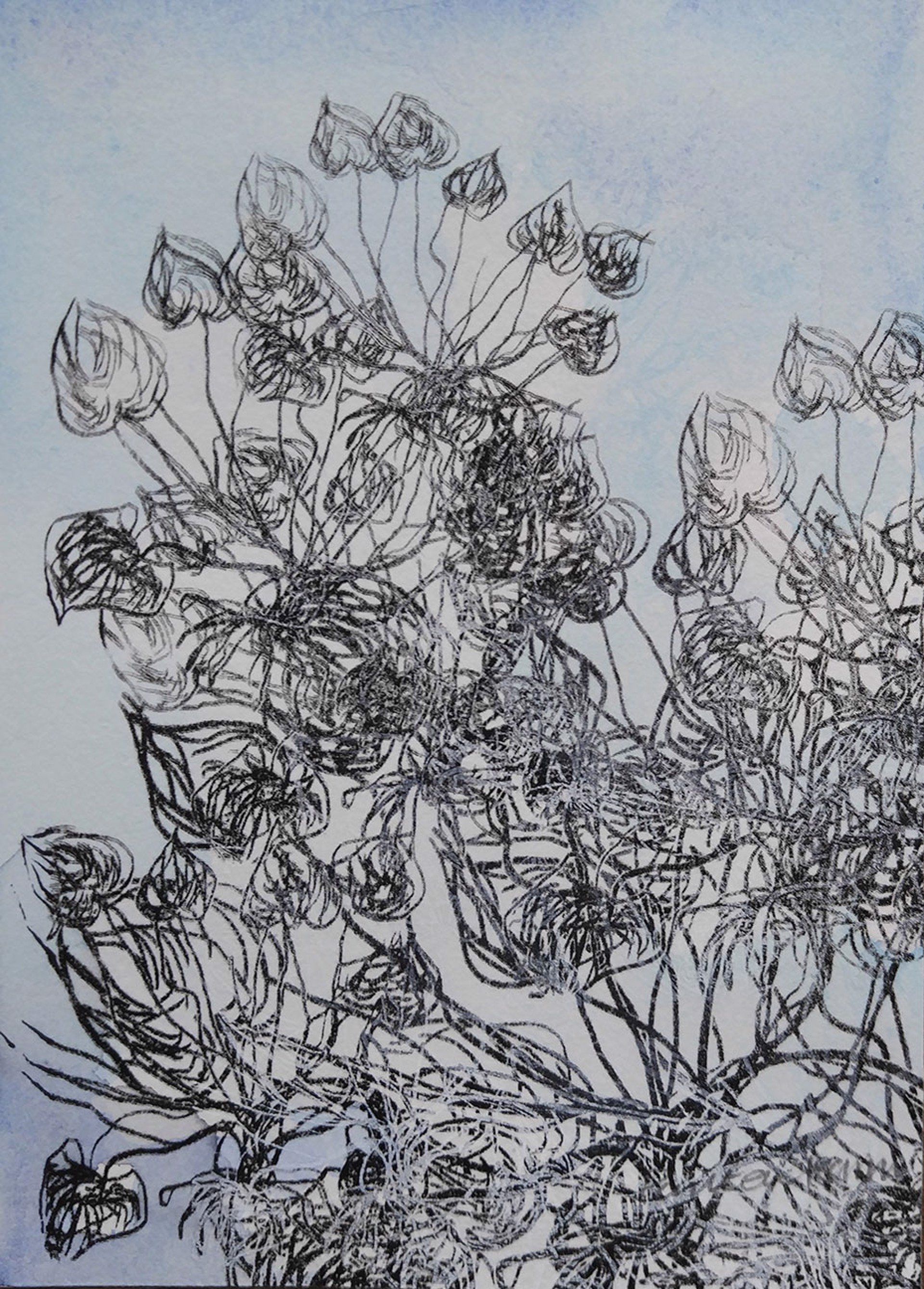 Blue Garden iii by Pantea Karimi