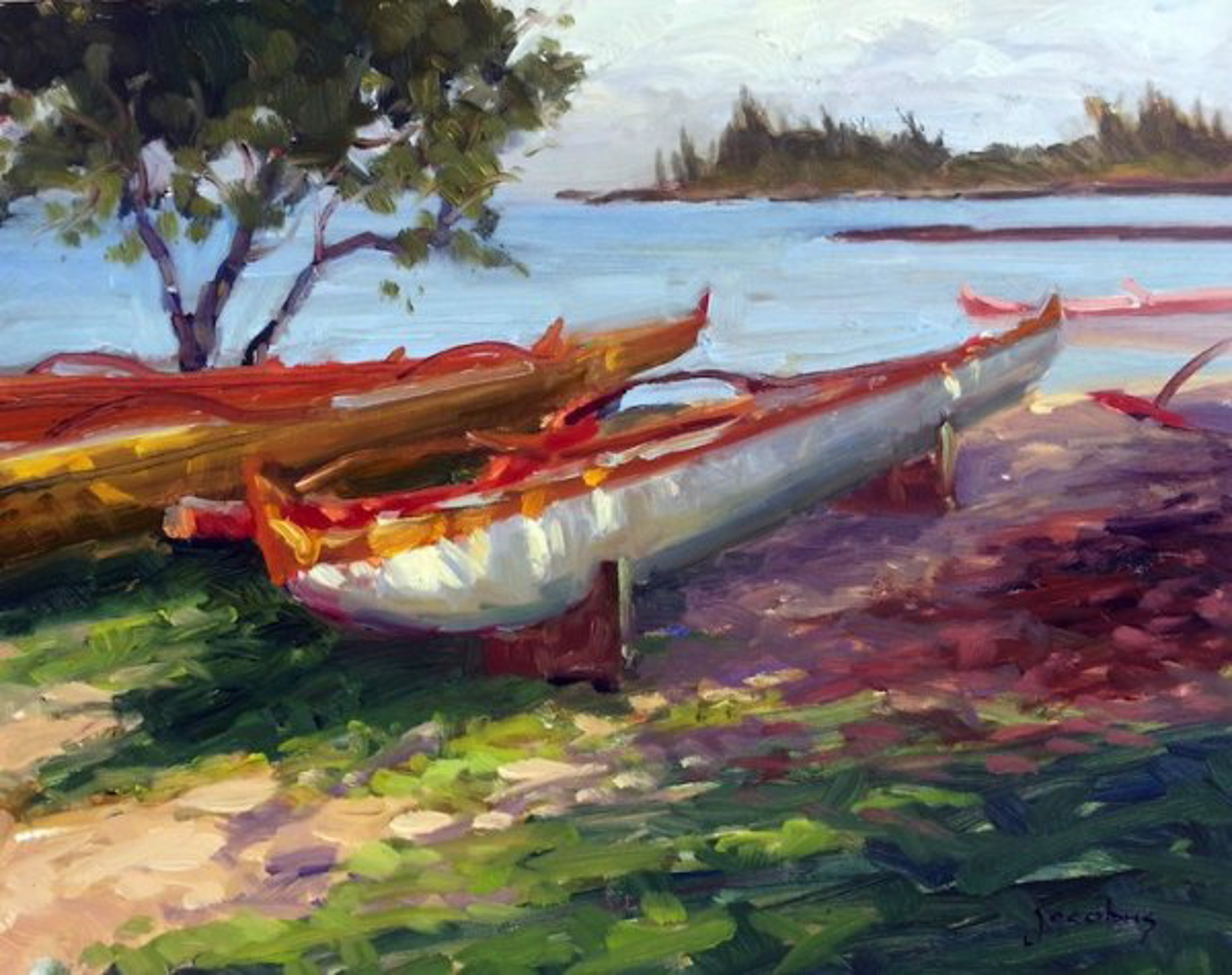 Outrigger Canoes, Haleiwa by Jacobus Baas