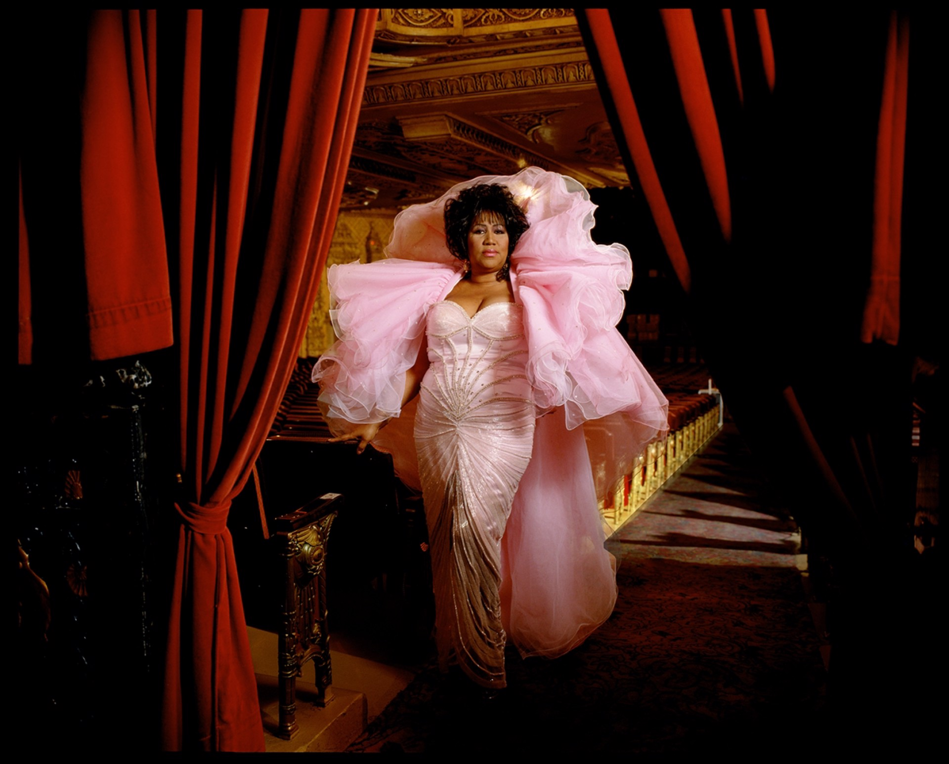 96089 Aretha Franklin Pink Dress Color by Timothy White