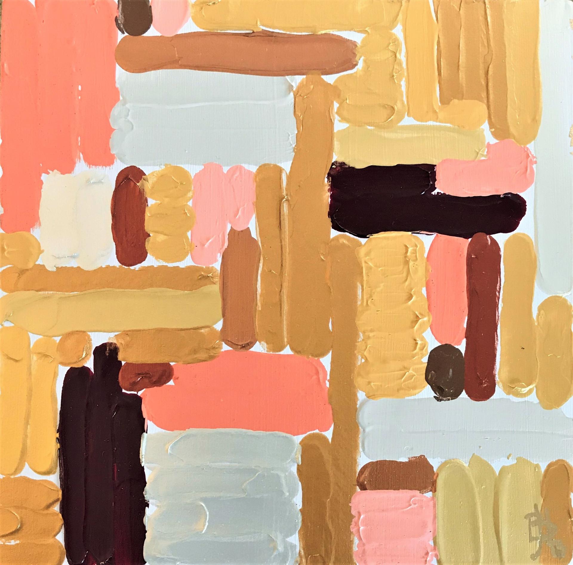 Peach Geometric by Leslie Poteet Busker