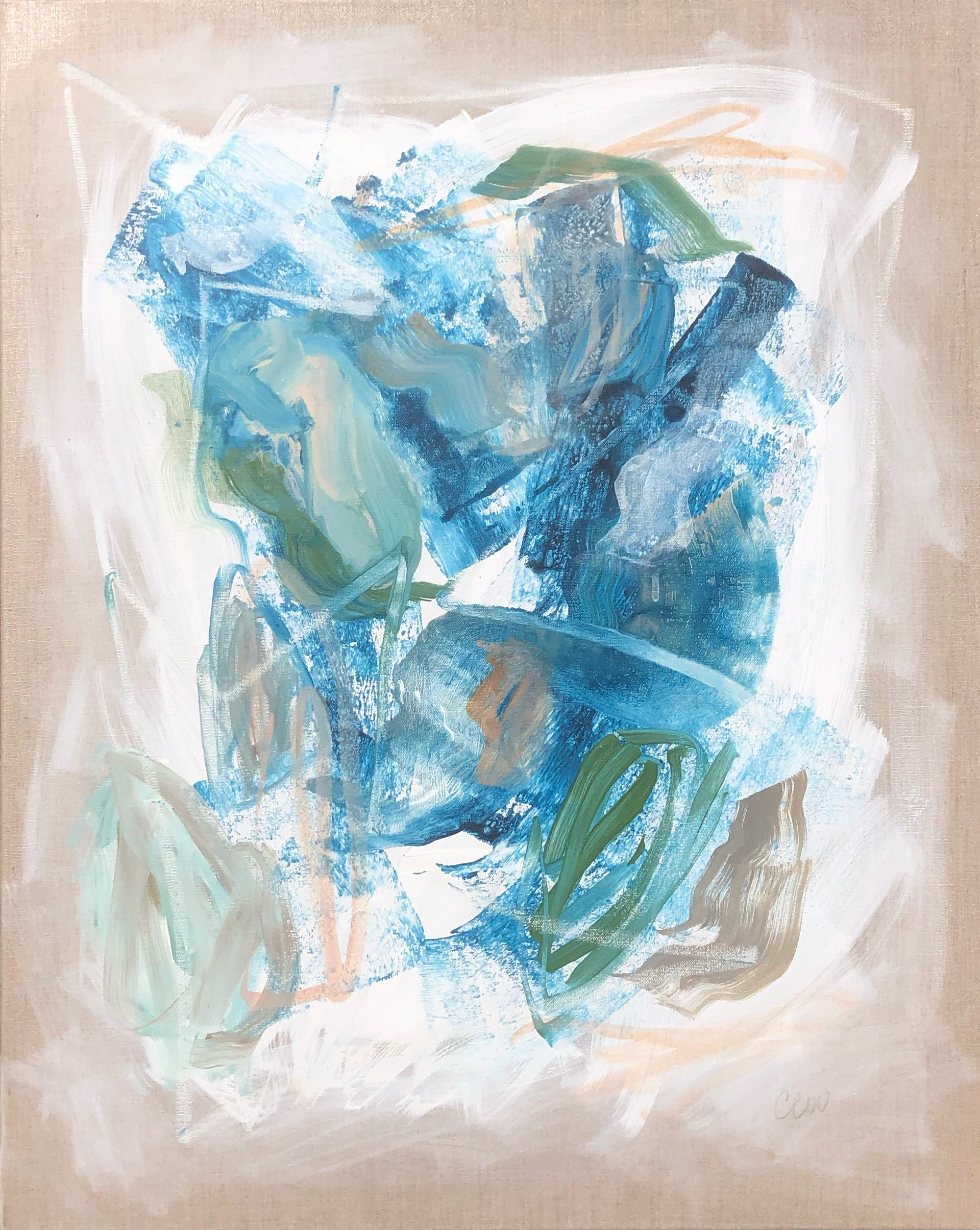Blue Flow 3 by Catherine Whitis