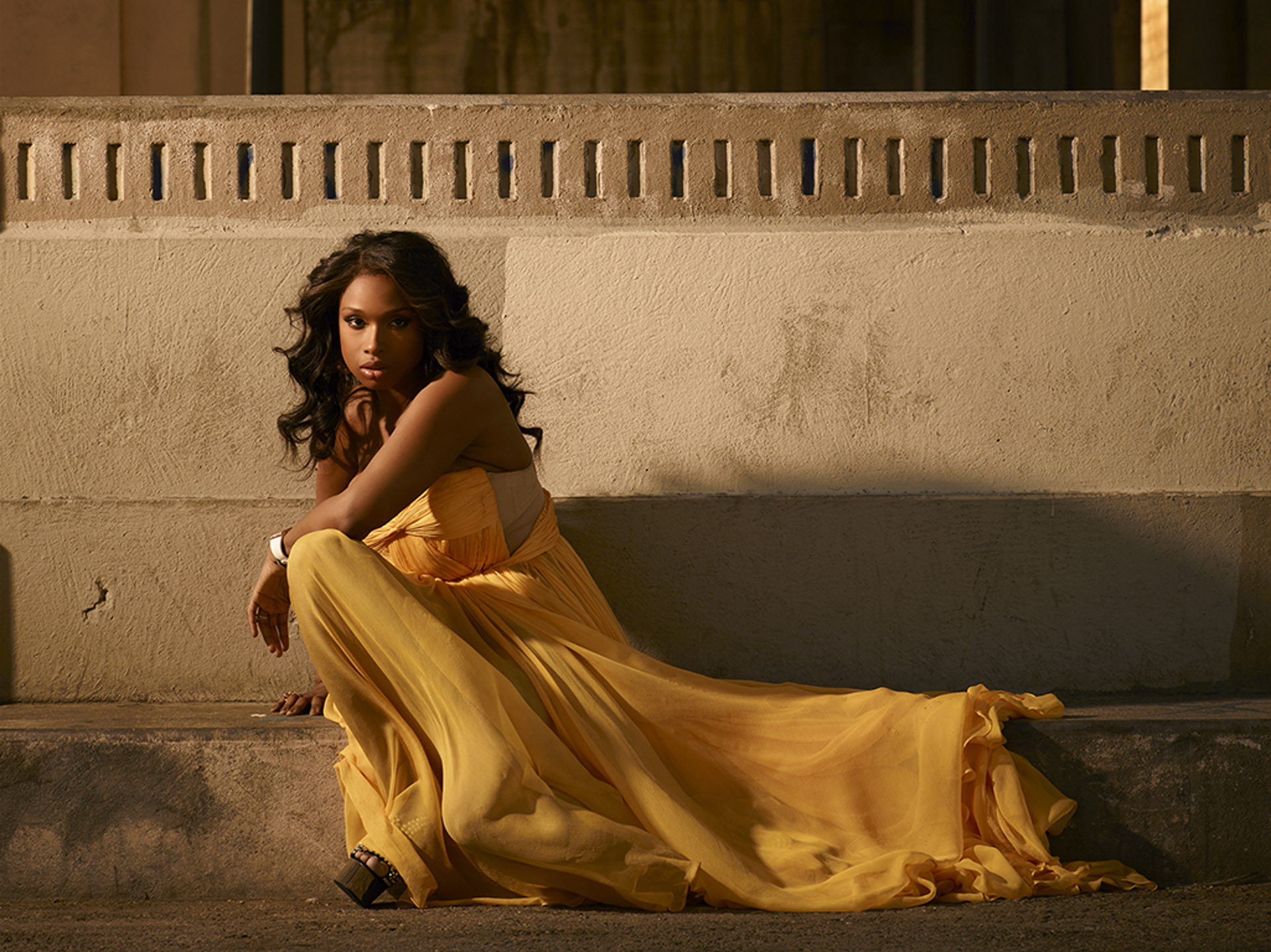 11031 Jennifer Hudson Yellow Dress Color by Timothy White