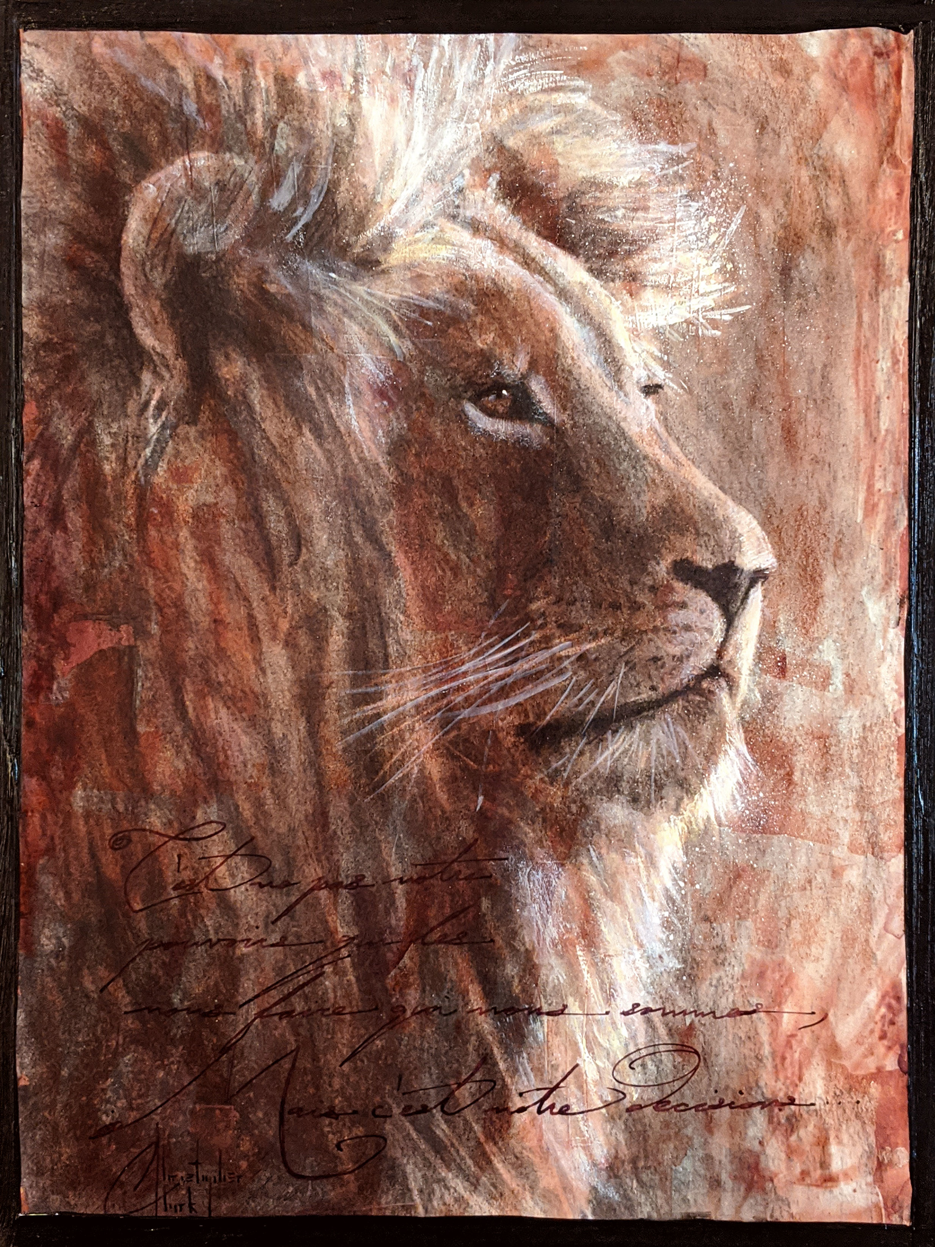 Sepia Cats, Lion 1 by Christopher Clark