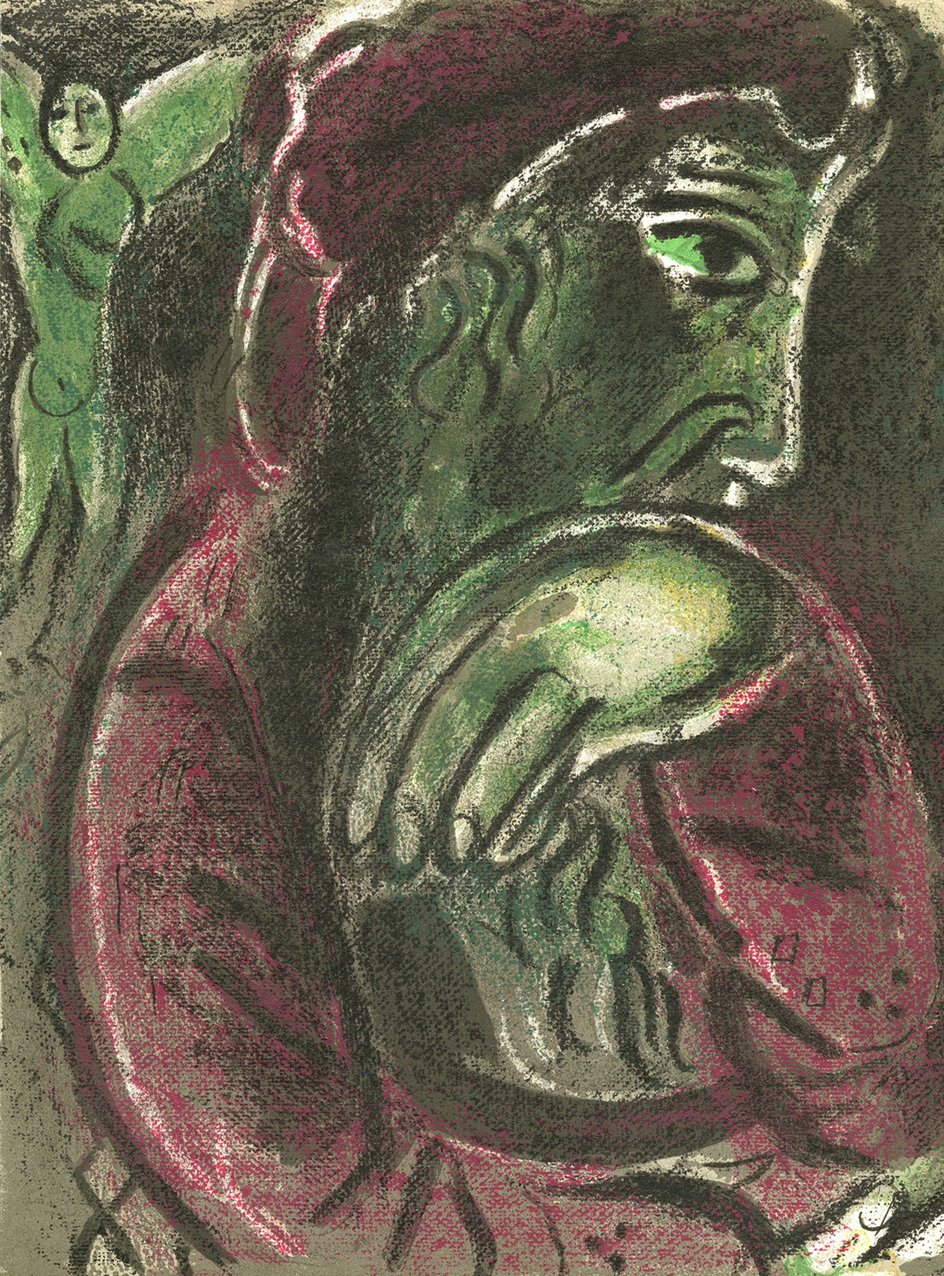 Job Désperé (Job in Despair), M 254/277 by Marc Chagall